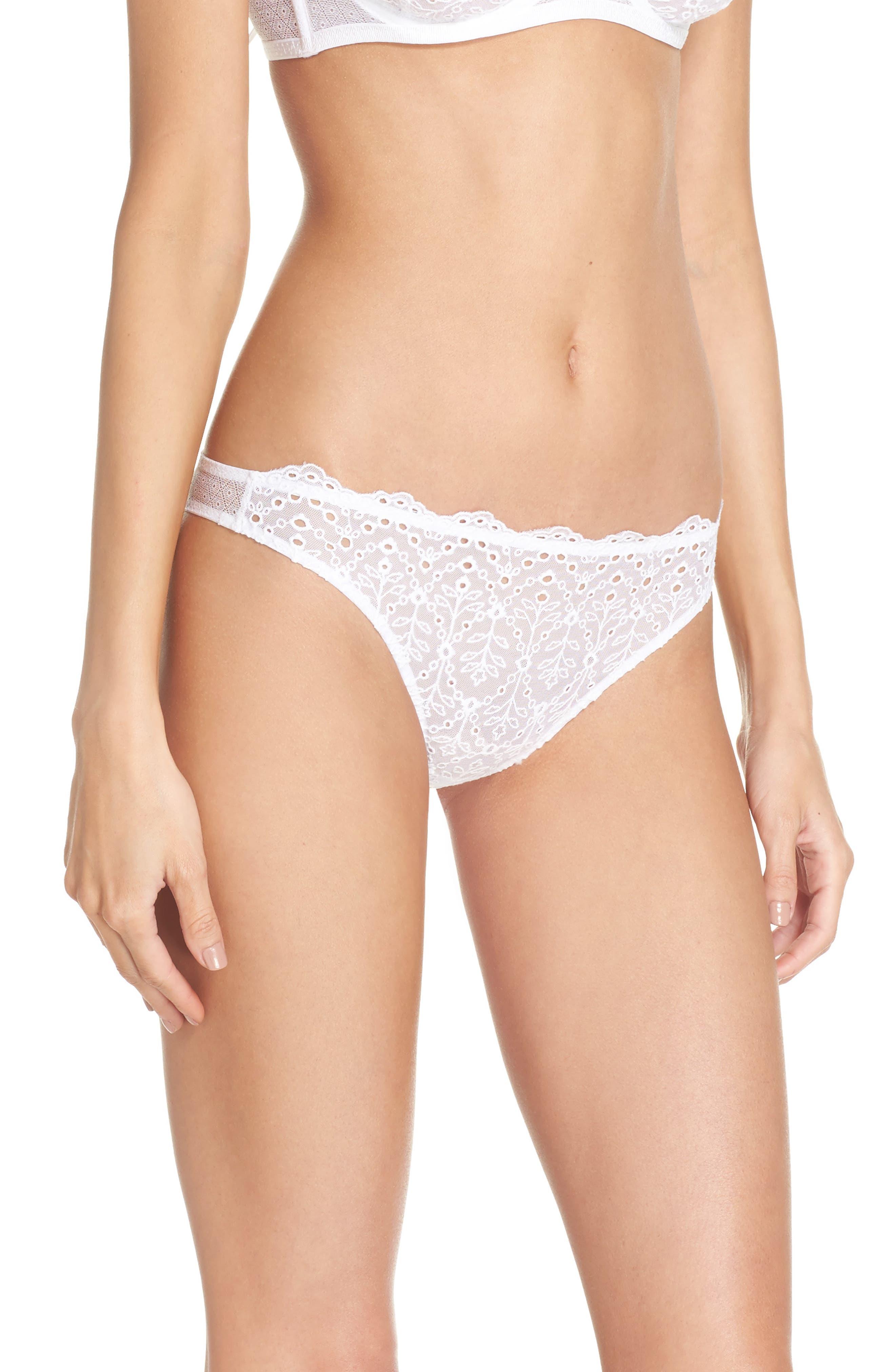 Intimately FP St. Tropez Tanga Panties,                             Alternate thumbnail 3, color,                             White