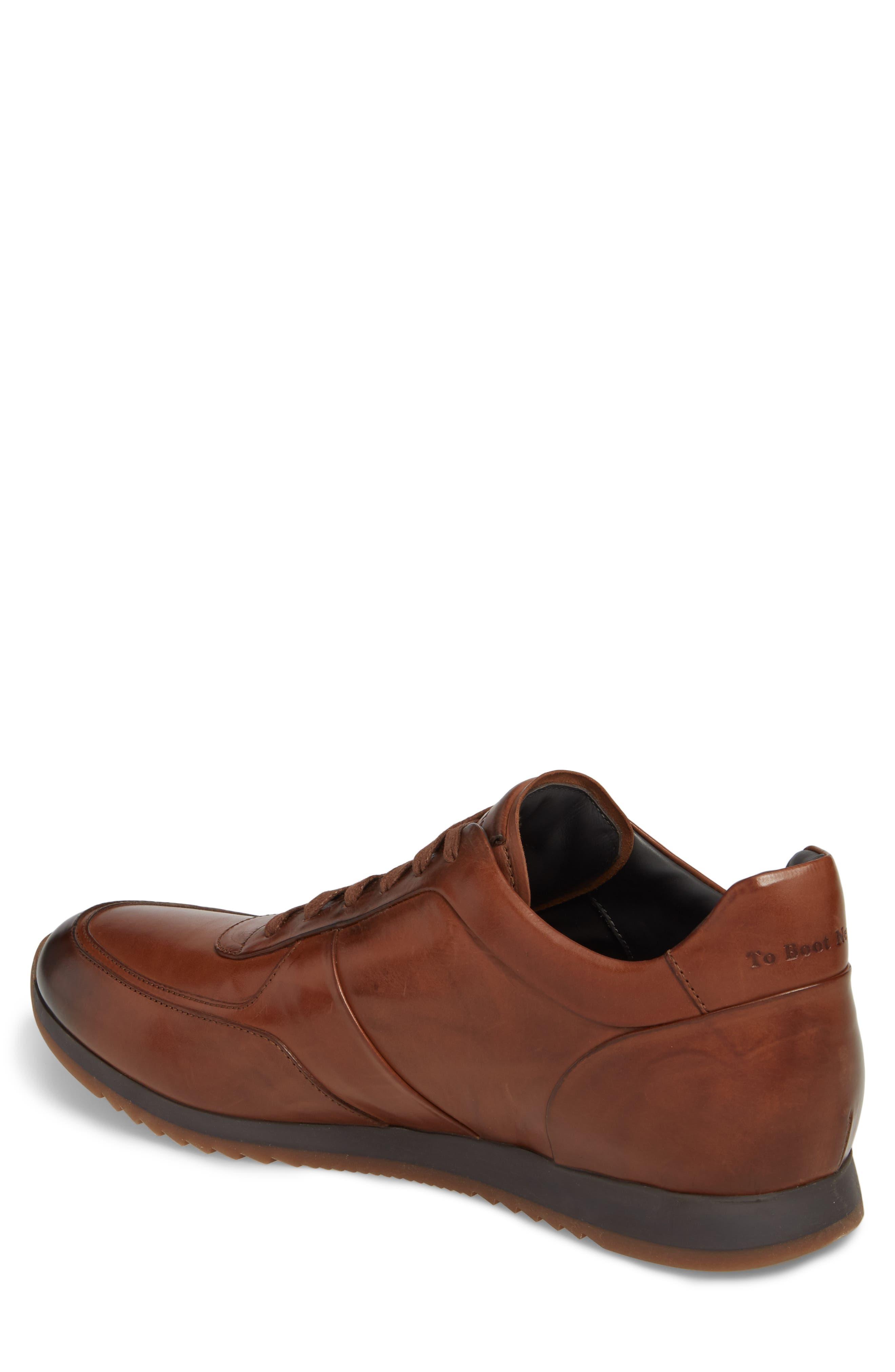 Lenox Low Top Sneaker,                             Alternate thumbnail 2, color,                             Tan Leather