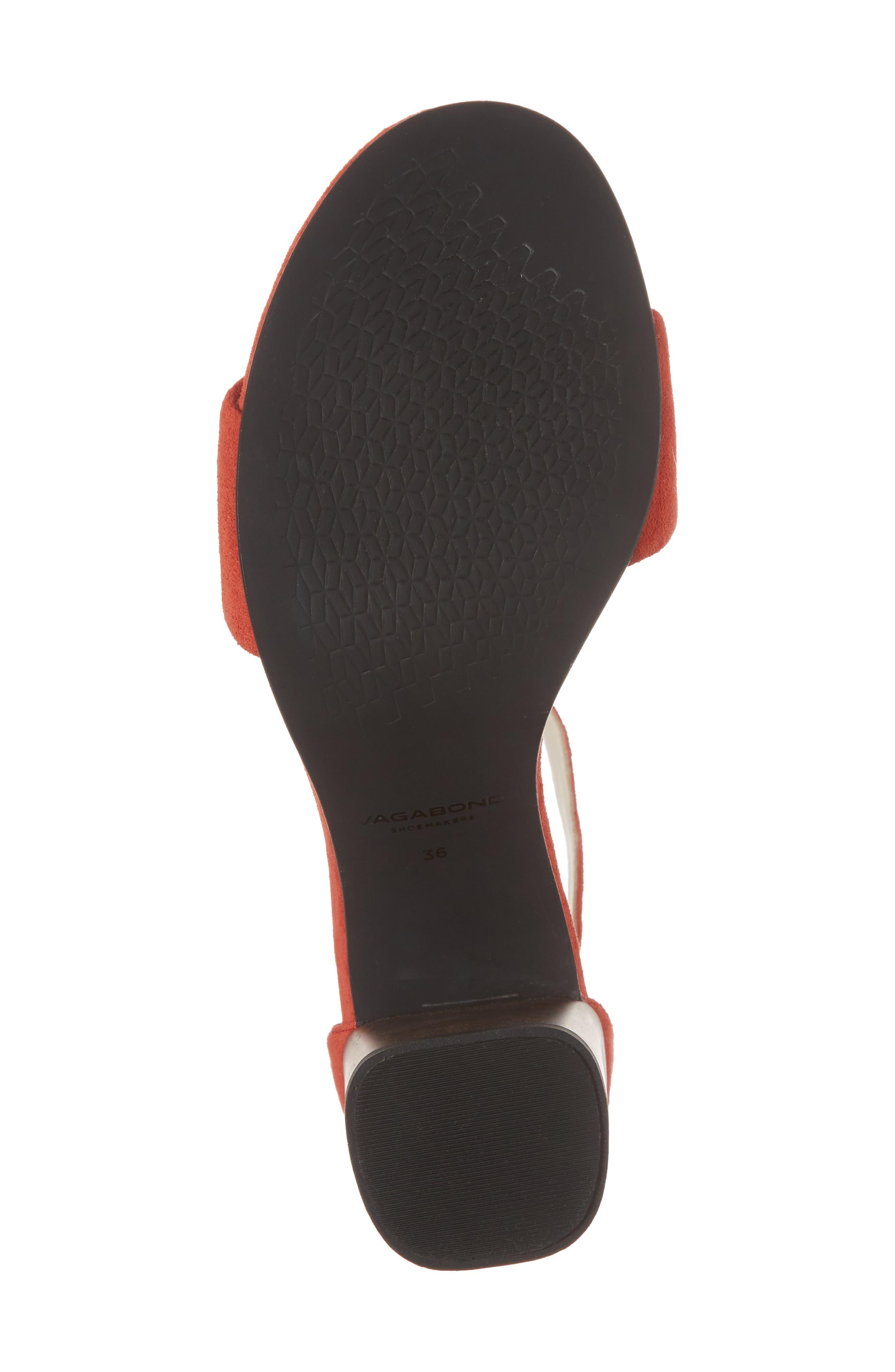 Carol Ankle Strap Sandal,                             Alternate thumbnail 6, color,                             Coral Suede