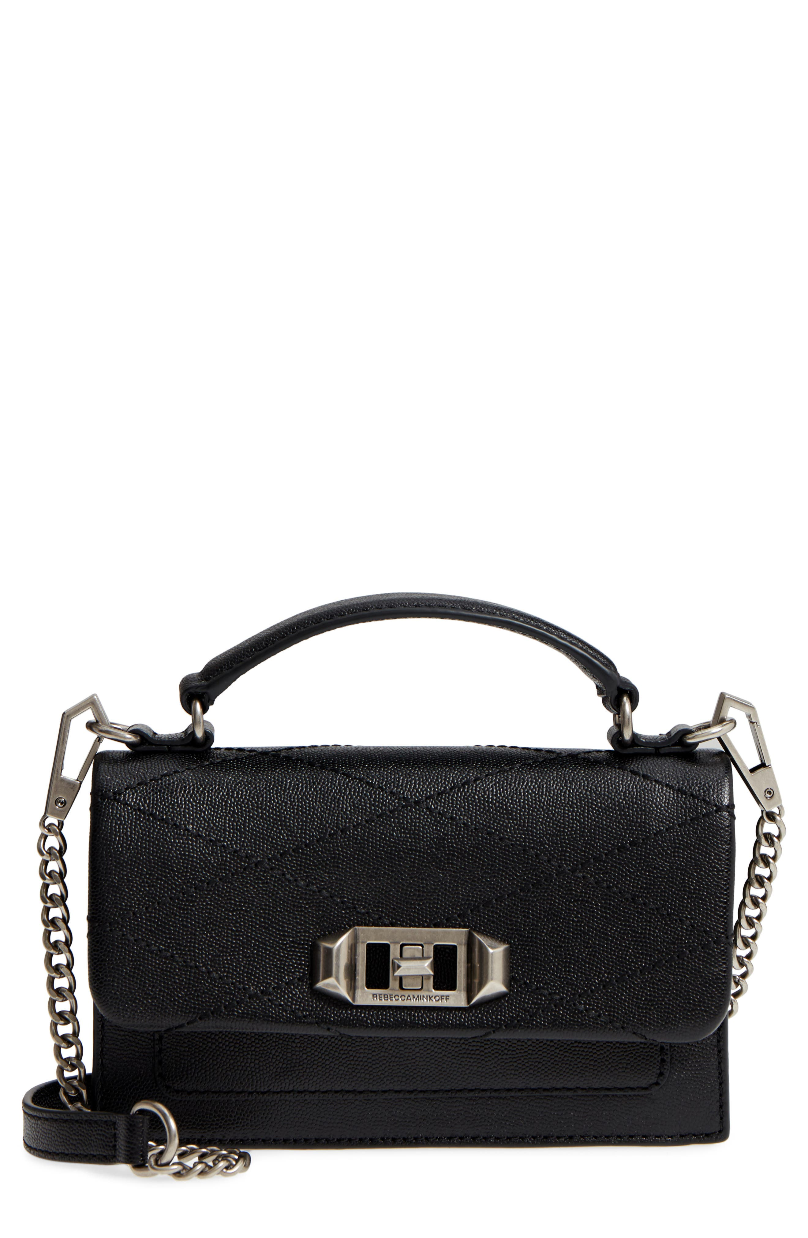 Small Je T'aime Leather Crossbody Bag,                             Main thumbnail 1, color,                             Black