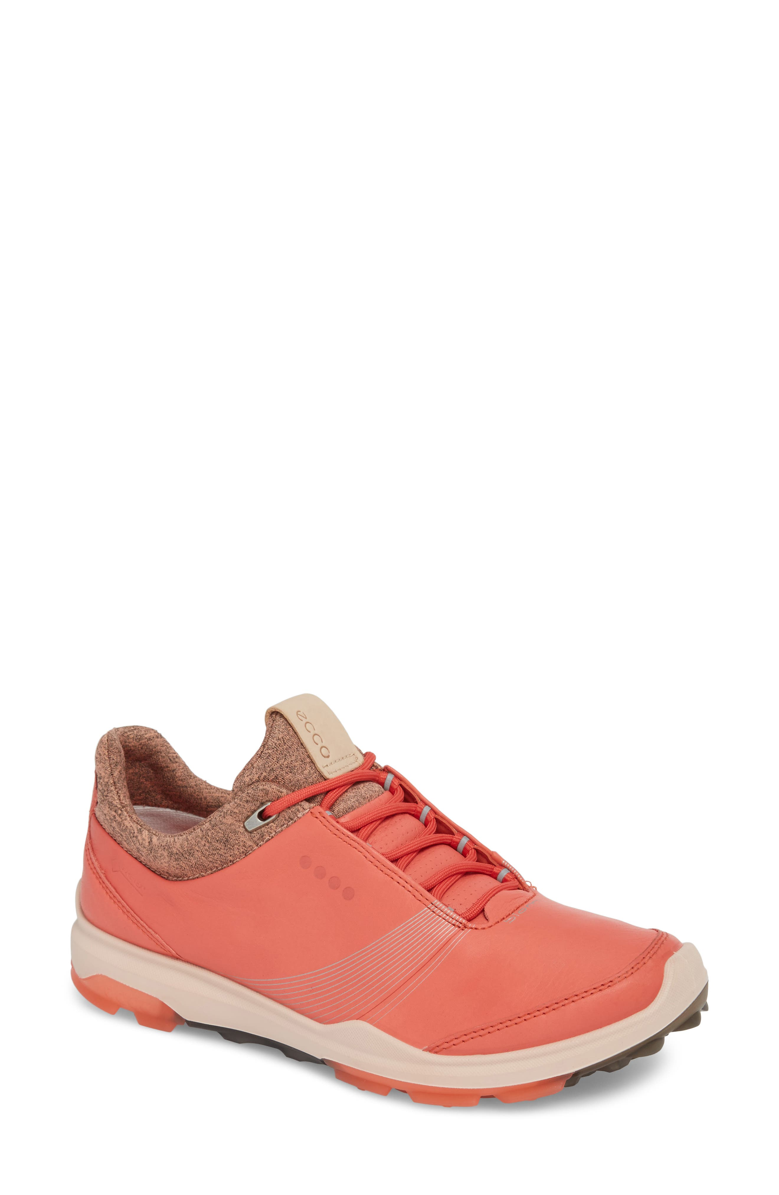 BIOM 2 Hybrid Gore-Tex<sup>®</sup> Golf Shoe,                             Main thumbnail 1, color,                             Spiced Coral Leather