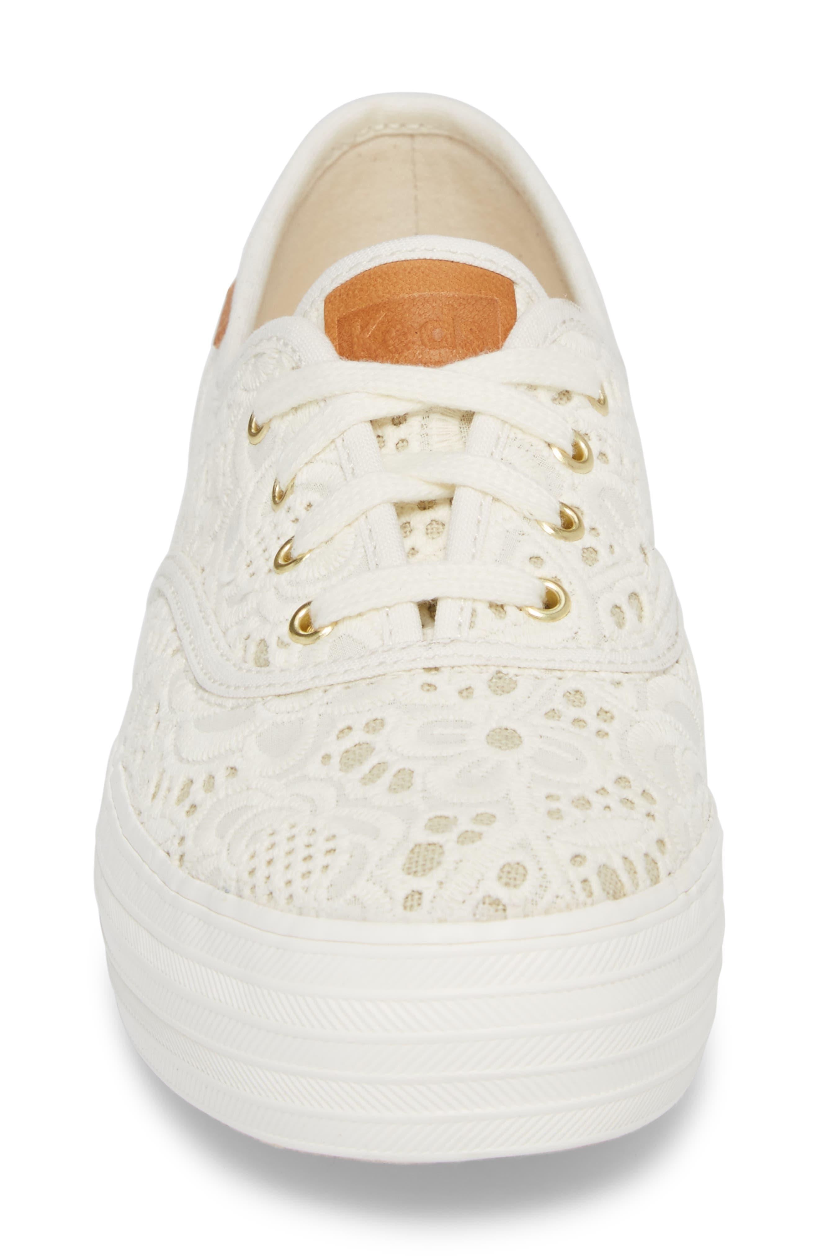 Alternate Image 4  - Keds® Triple Embroidered Crochet Platform Sneaker (Women)
