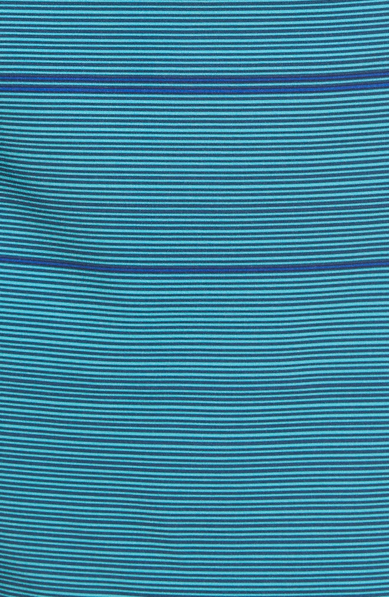 Ombré Stretch Stripe Board Shorts,                             Alternate thumbnail 5, color,                             Silver Pine
