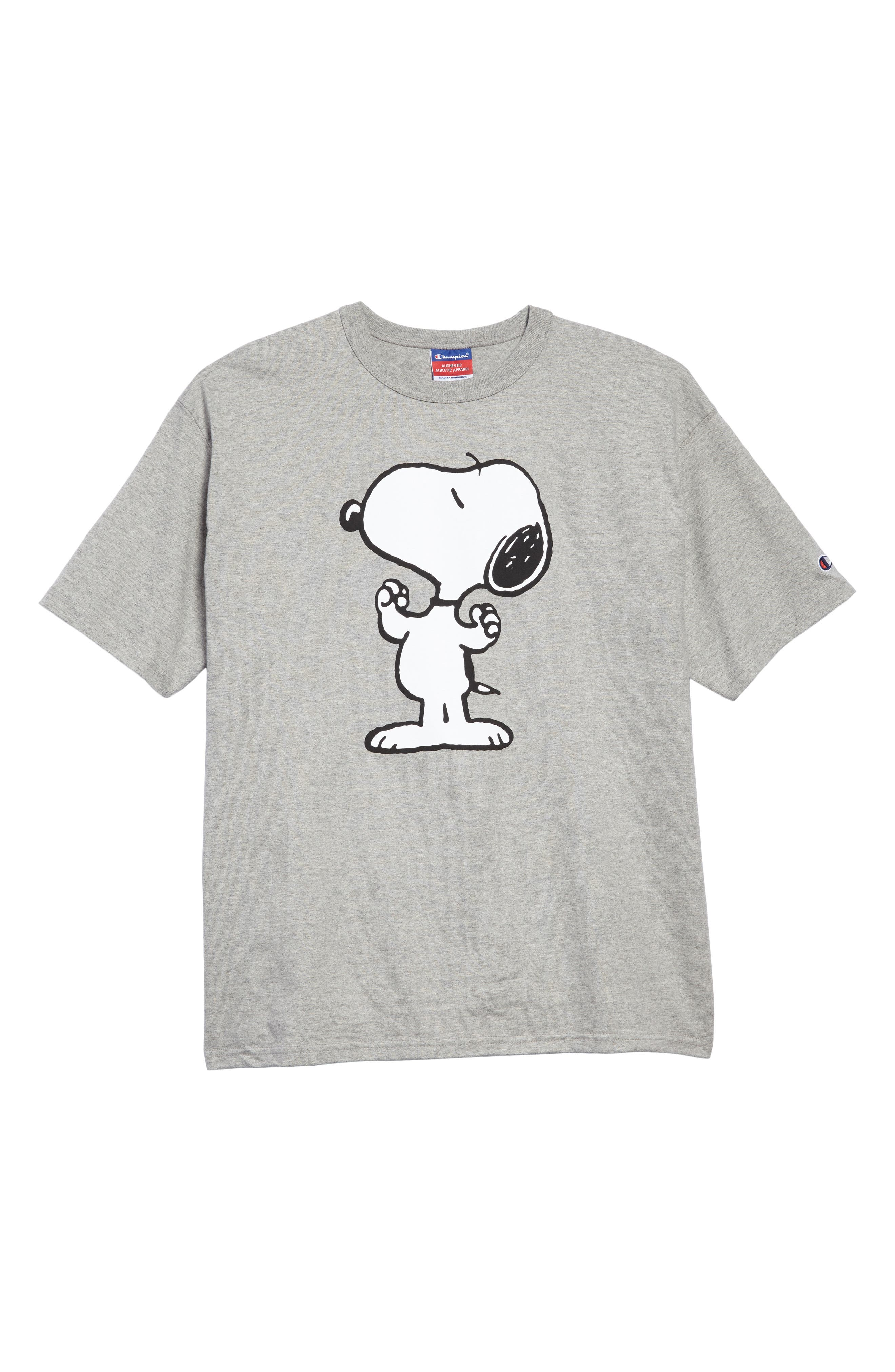 Heritage Snoopy Unisex T-Shirt,                             Main thumbnail 1, color,                             Oxford Grey