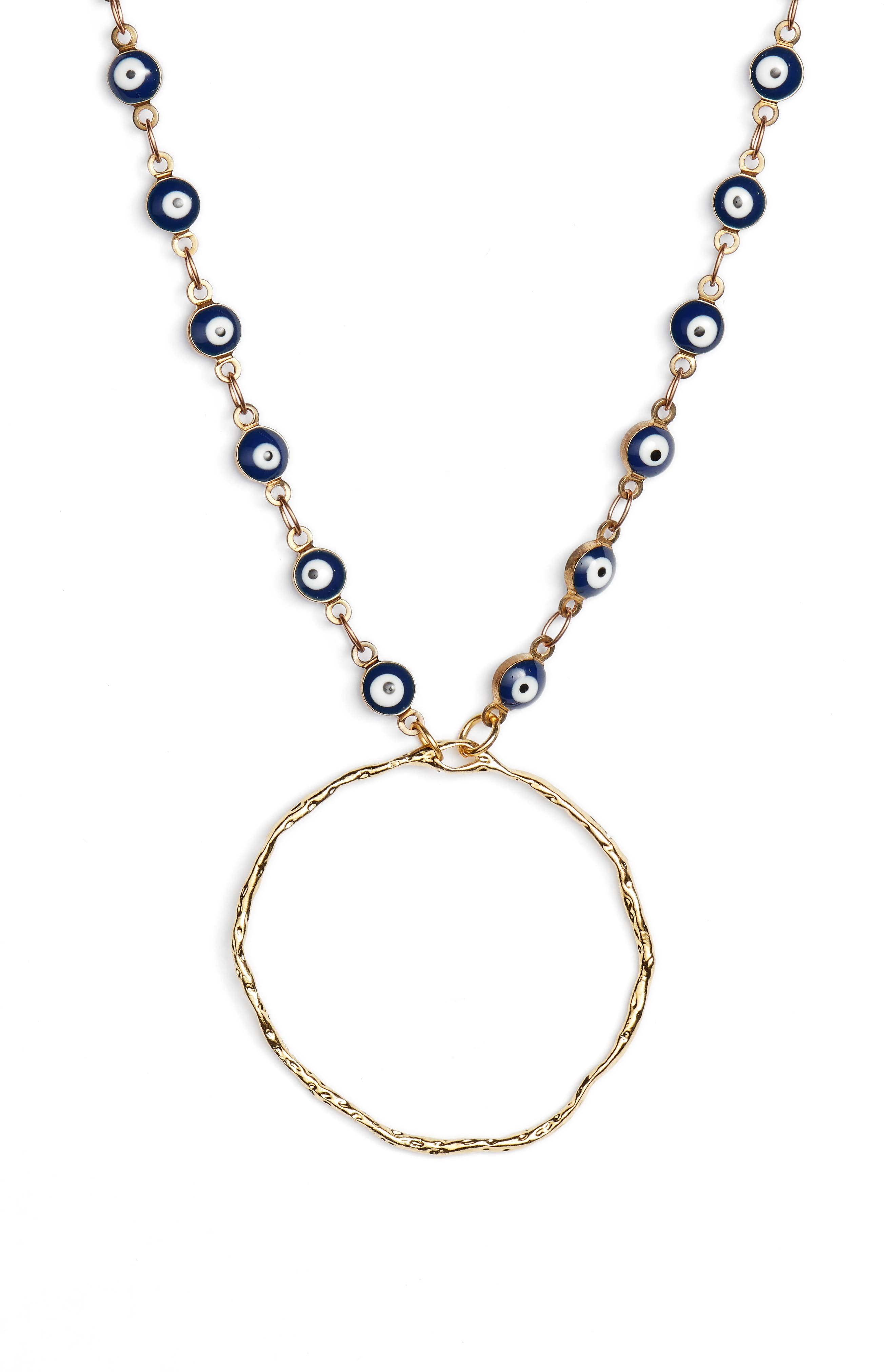 Mad Jewels Capri Eye Chain Pendant Necklace