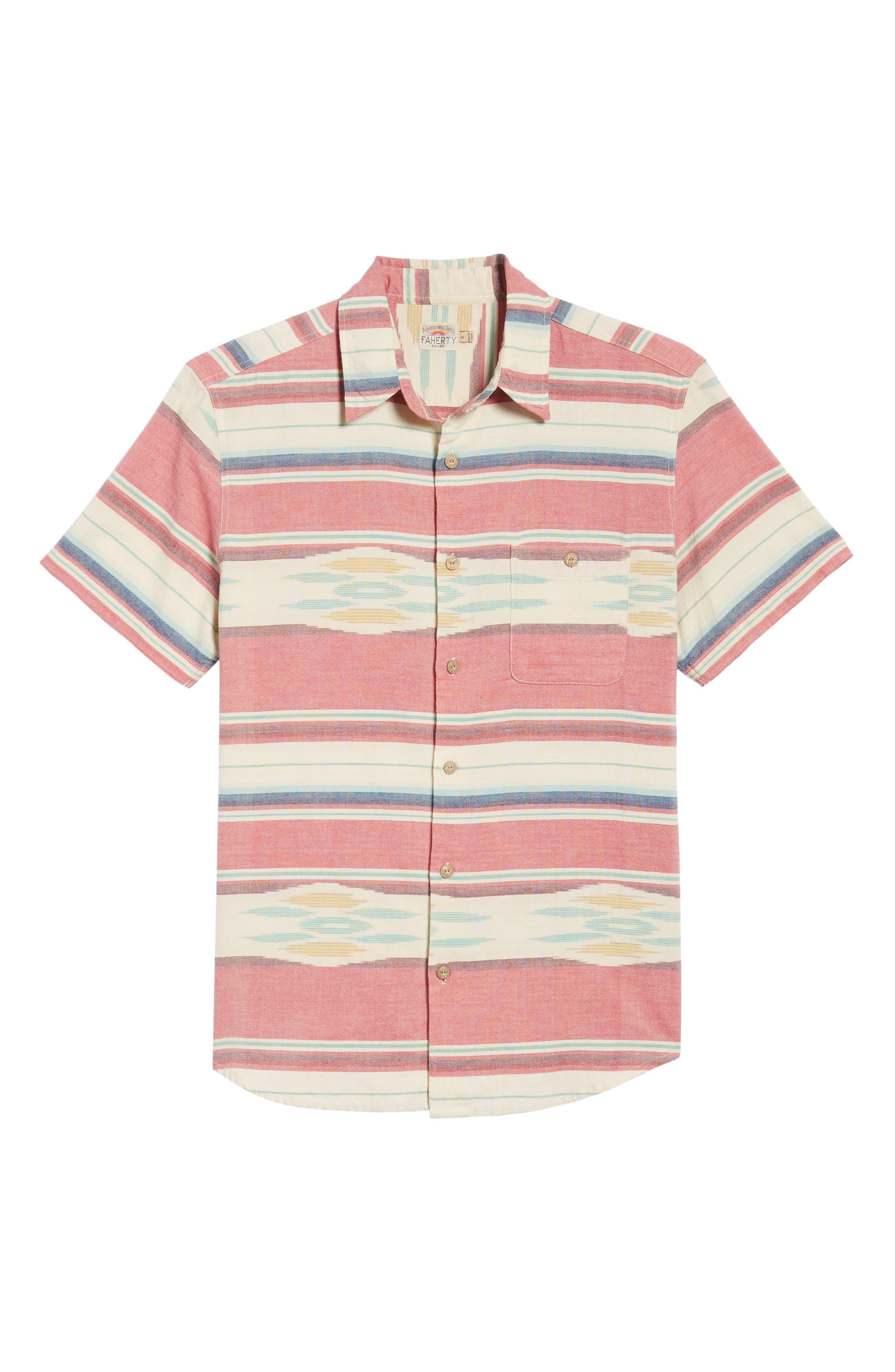 Coast Ikat Sport Shirt,                             Alternate thumbnail 6, color,                             Native Ikat