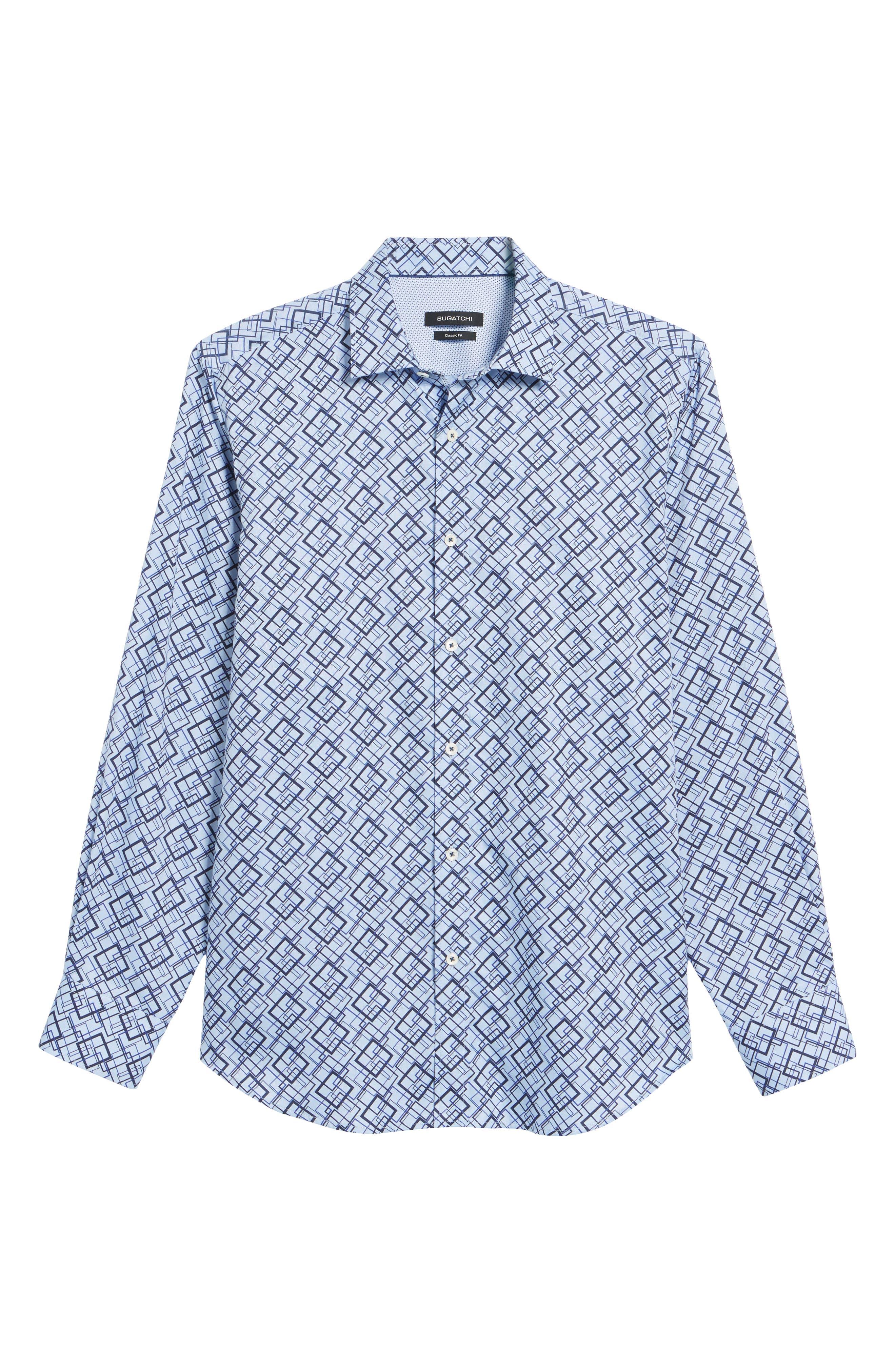 Classic Fit Woven Sport Shirt,                             Alternate thumbnail 6, color,                             Classic Blue