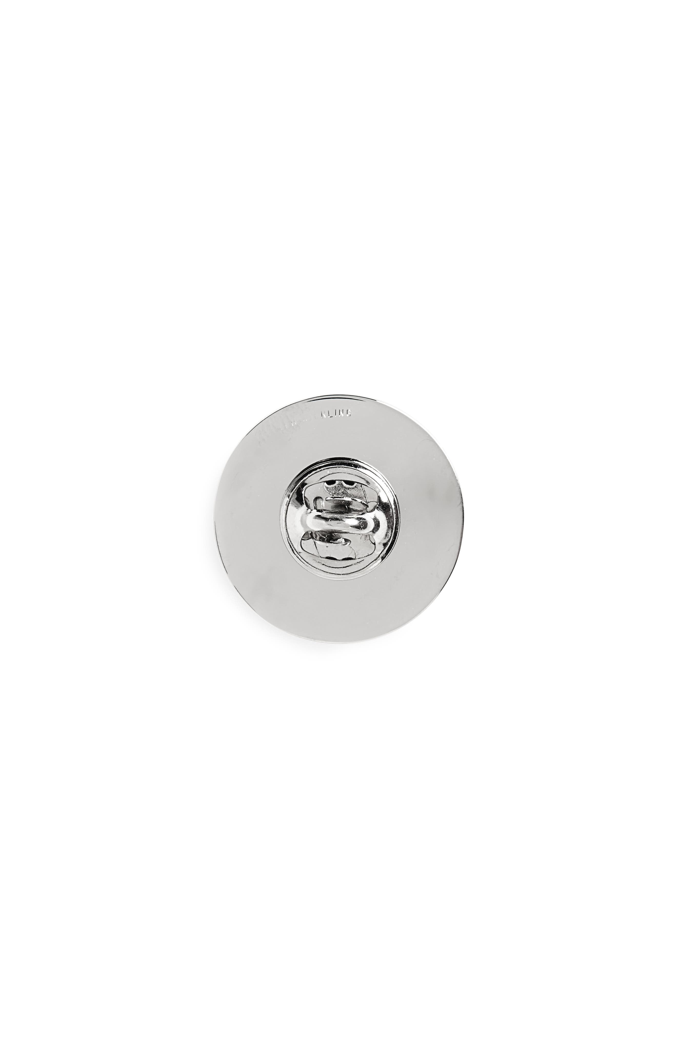 Nickel Lapel Pin,                             Alternate thumbnail 2, color,                             Silver