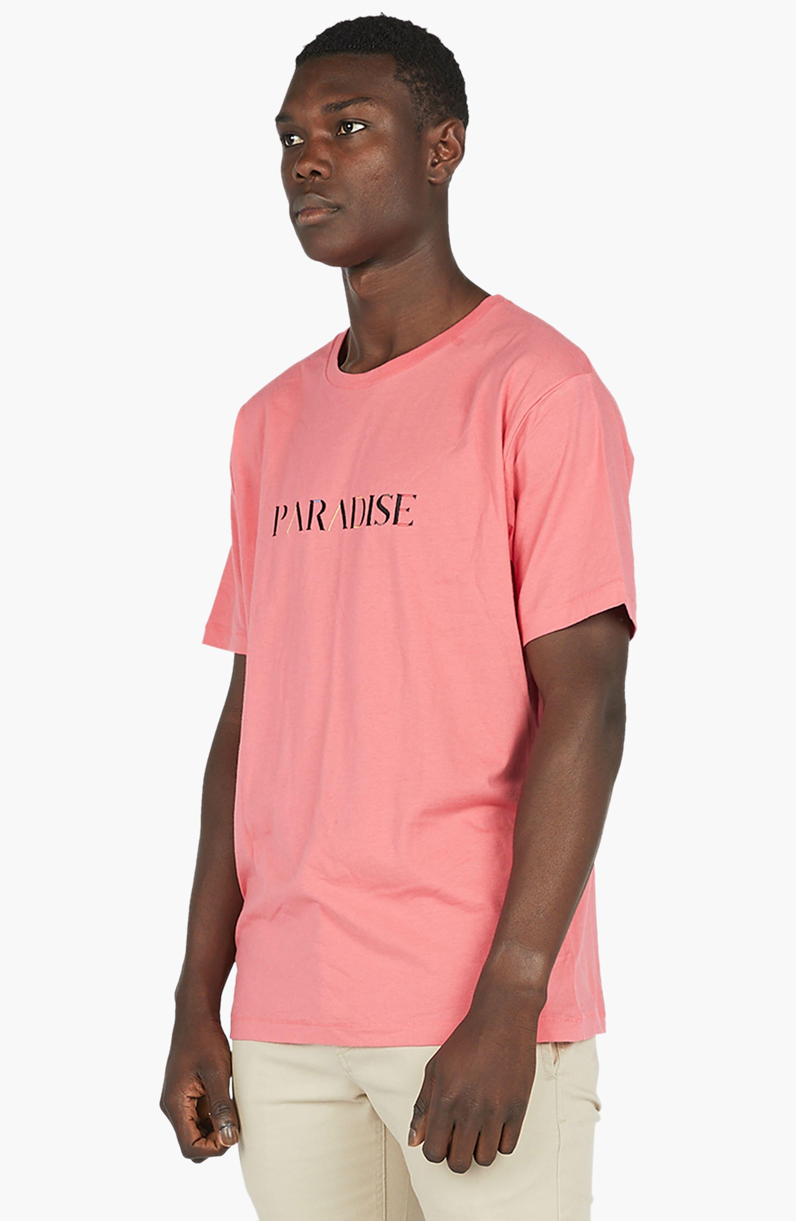 Paradise T-Shirt,                             Alternate thumbnail 4, color,                             Coral Pink