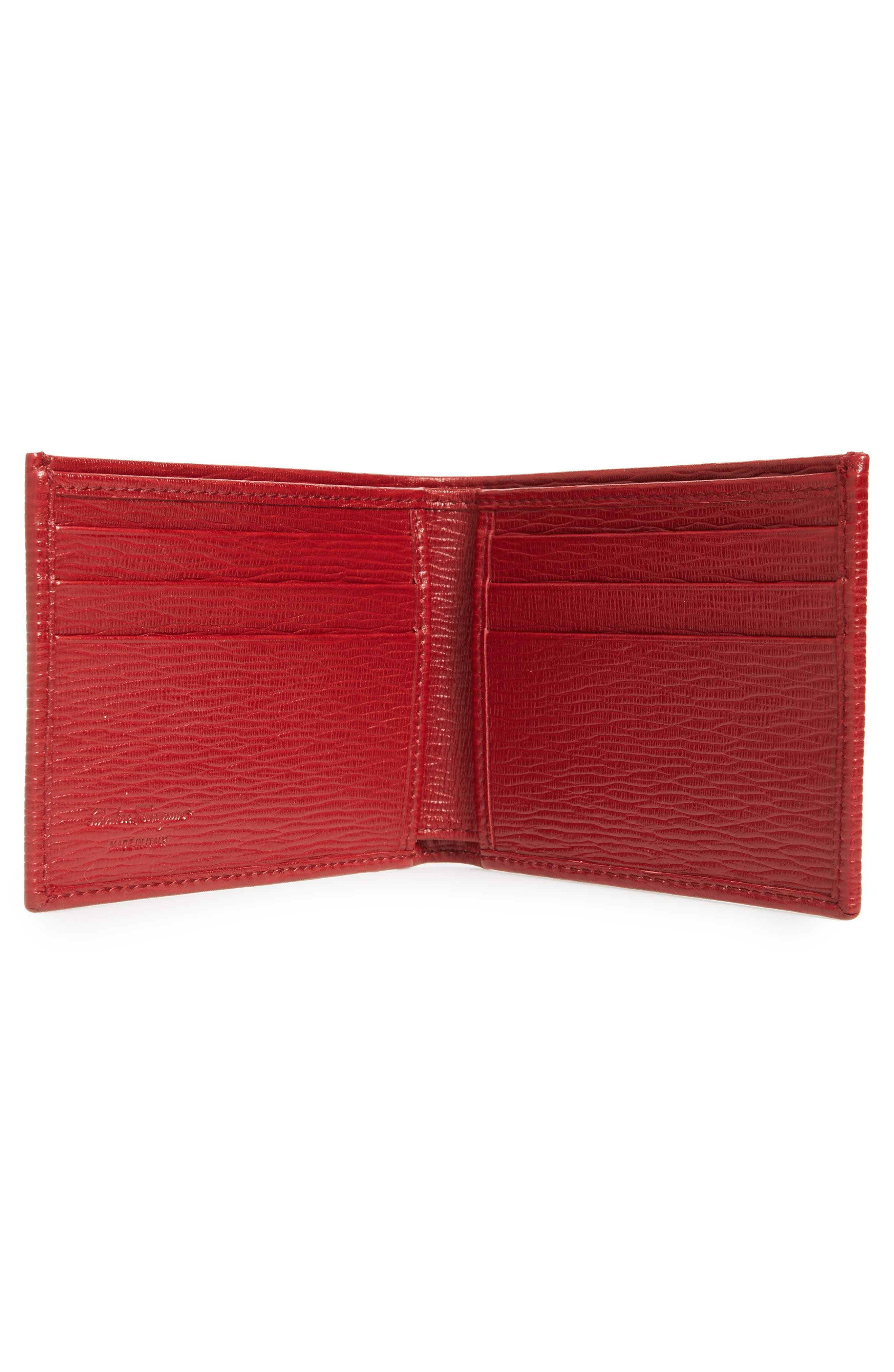 Revival Bifold Leather Wallet,                             Alternate thumbnail 2, color,                             Red