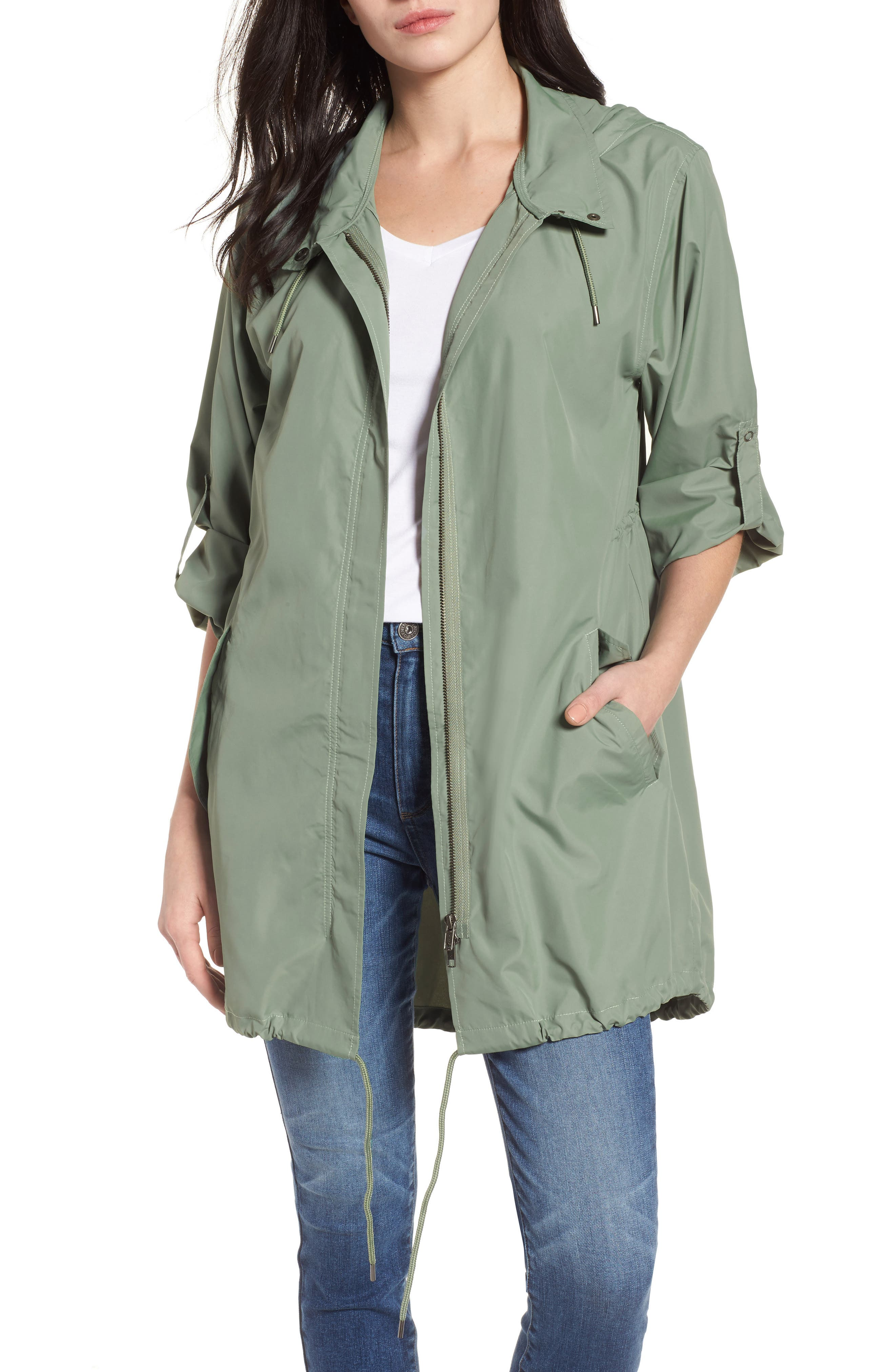 Caslon® Tumbled Anorak Jacket (Regular & Petite)