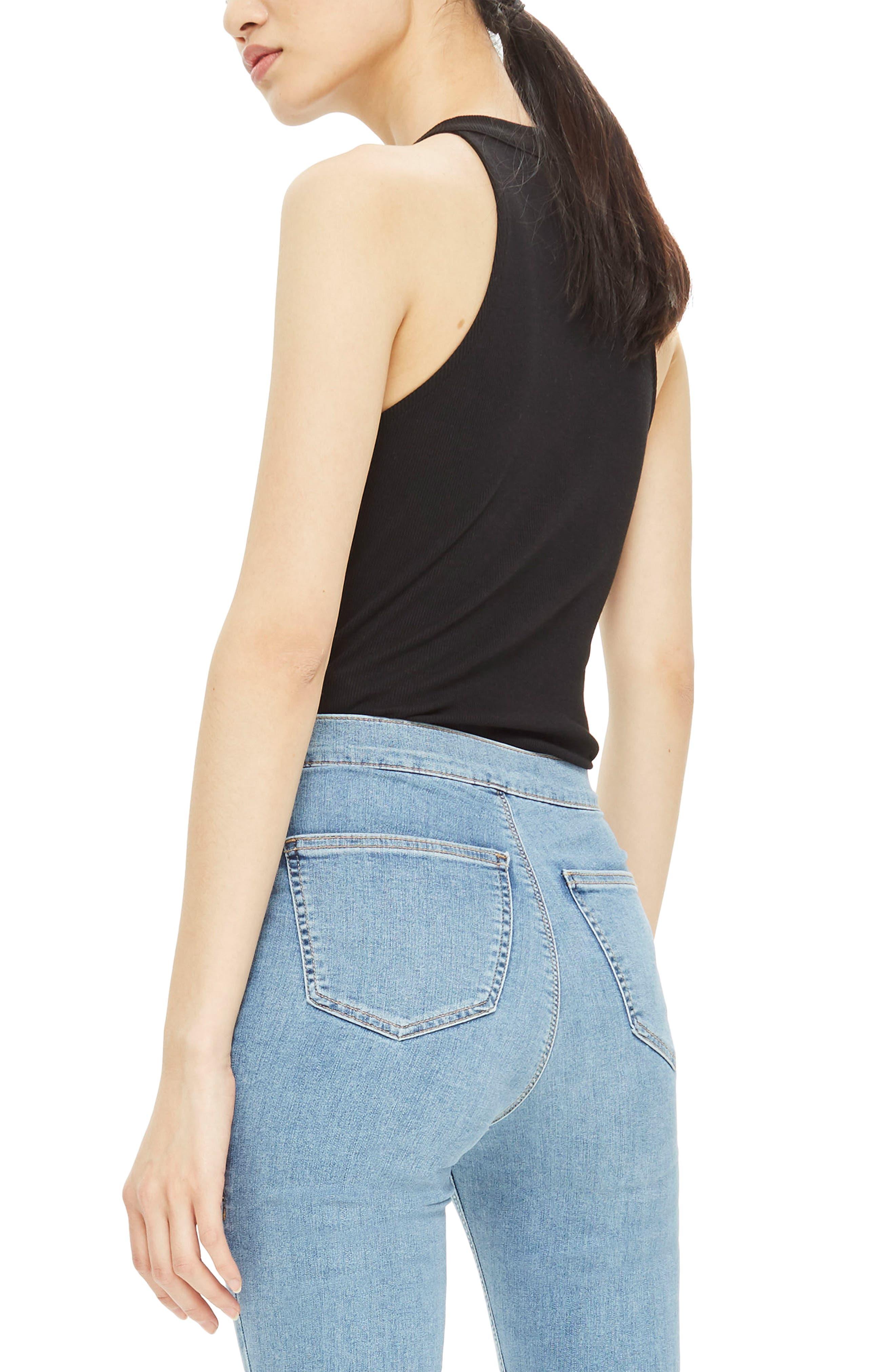 Alternate Image 3  - Topshop Zip Front Bodysuit