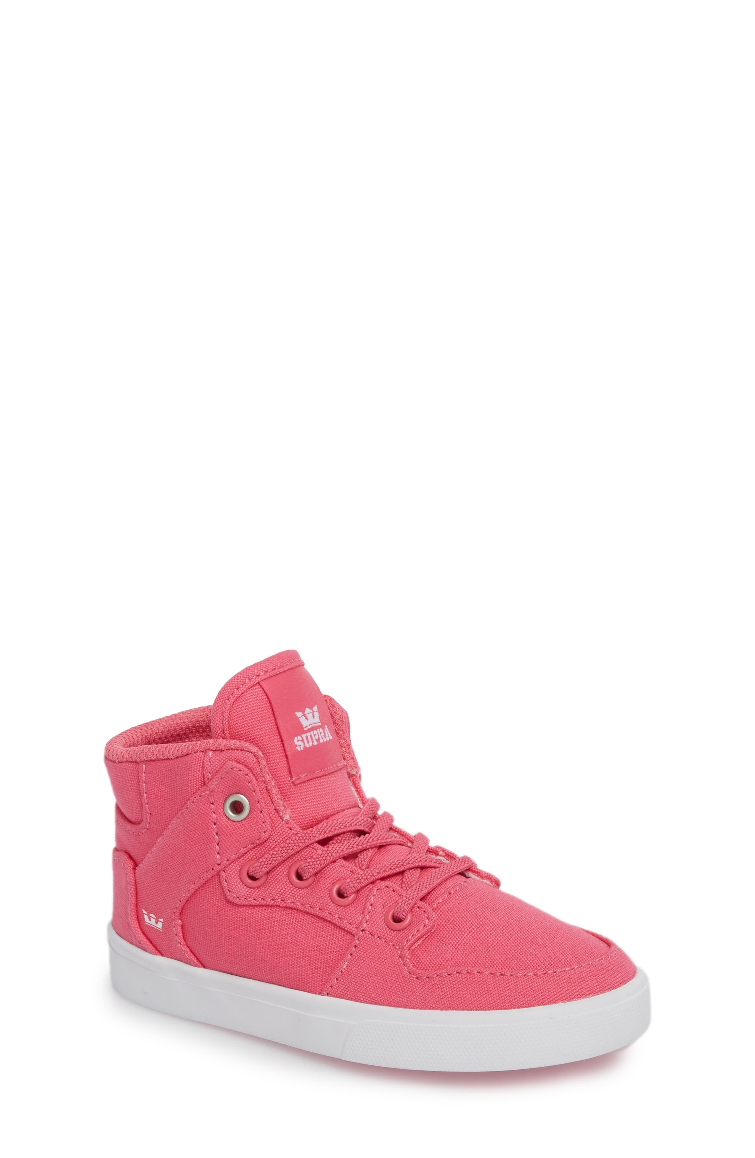 'Vaider' High Top Sneaker,                             Main thumbnail 1, color,                             Pink