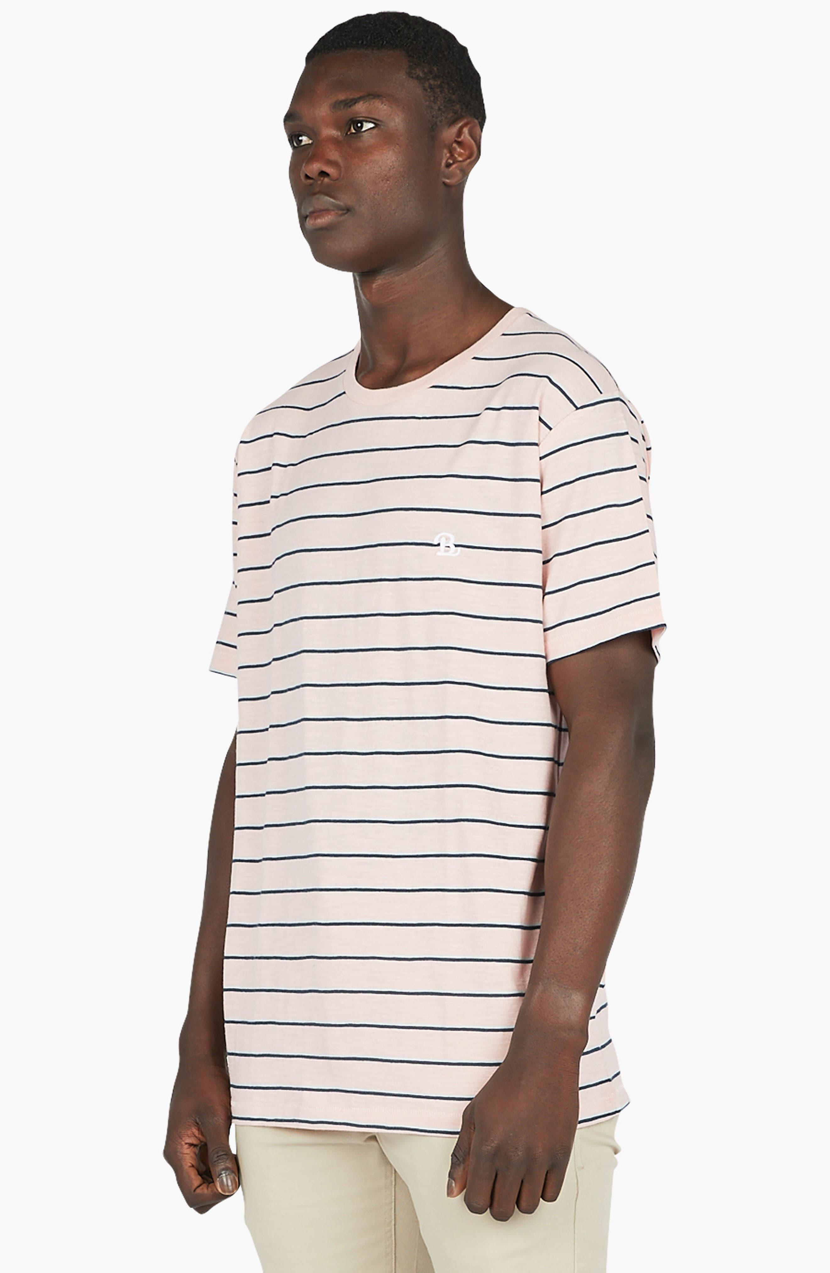 B.Schooled T-Shirt,                             Alternate thumbnail 4, color,                             Pink Stripe