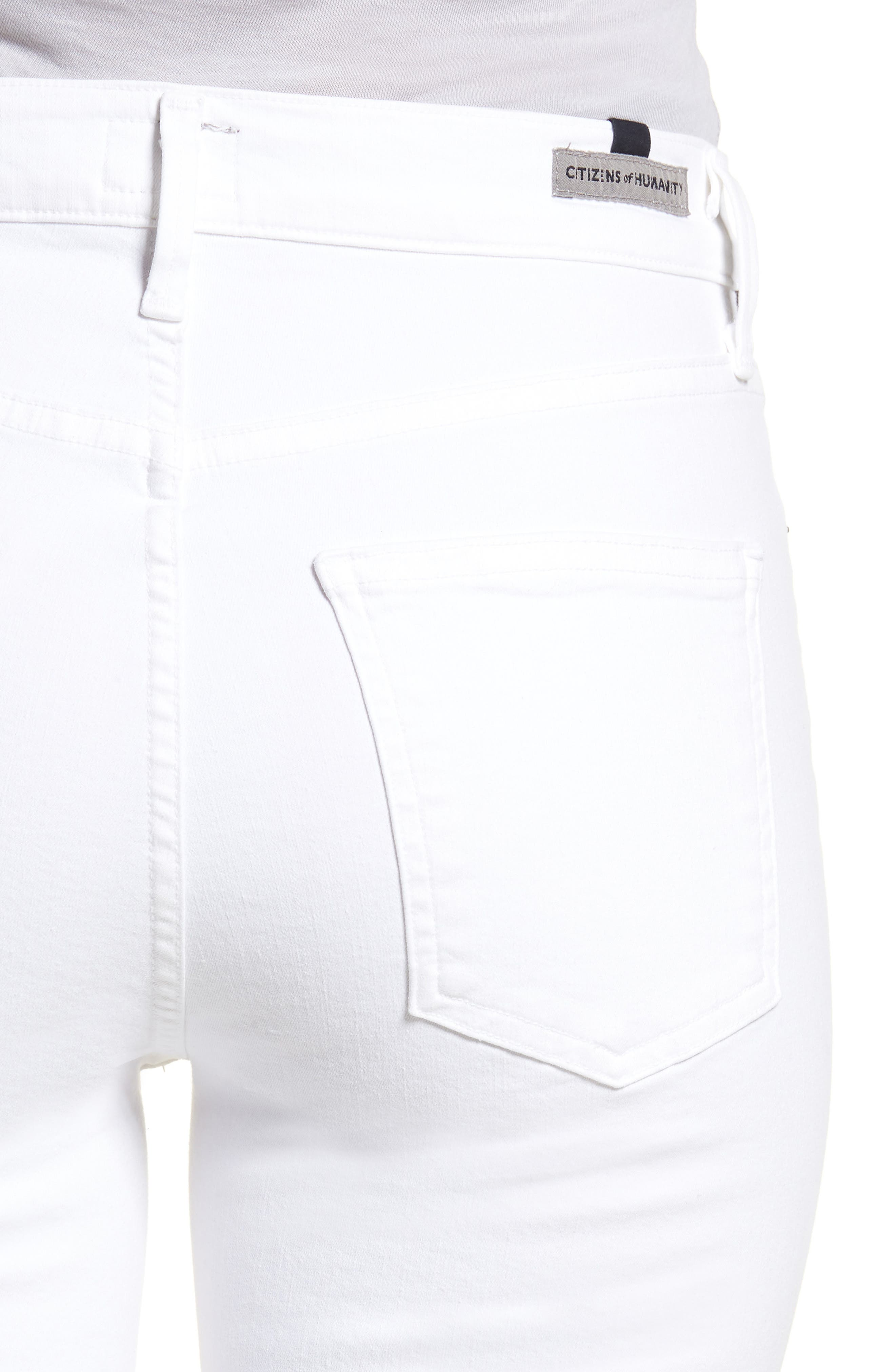 Alternate Image 4  - Citizens of Humanity Cara Ankle Cigarette Jeans (Sculpt White)