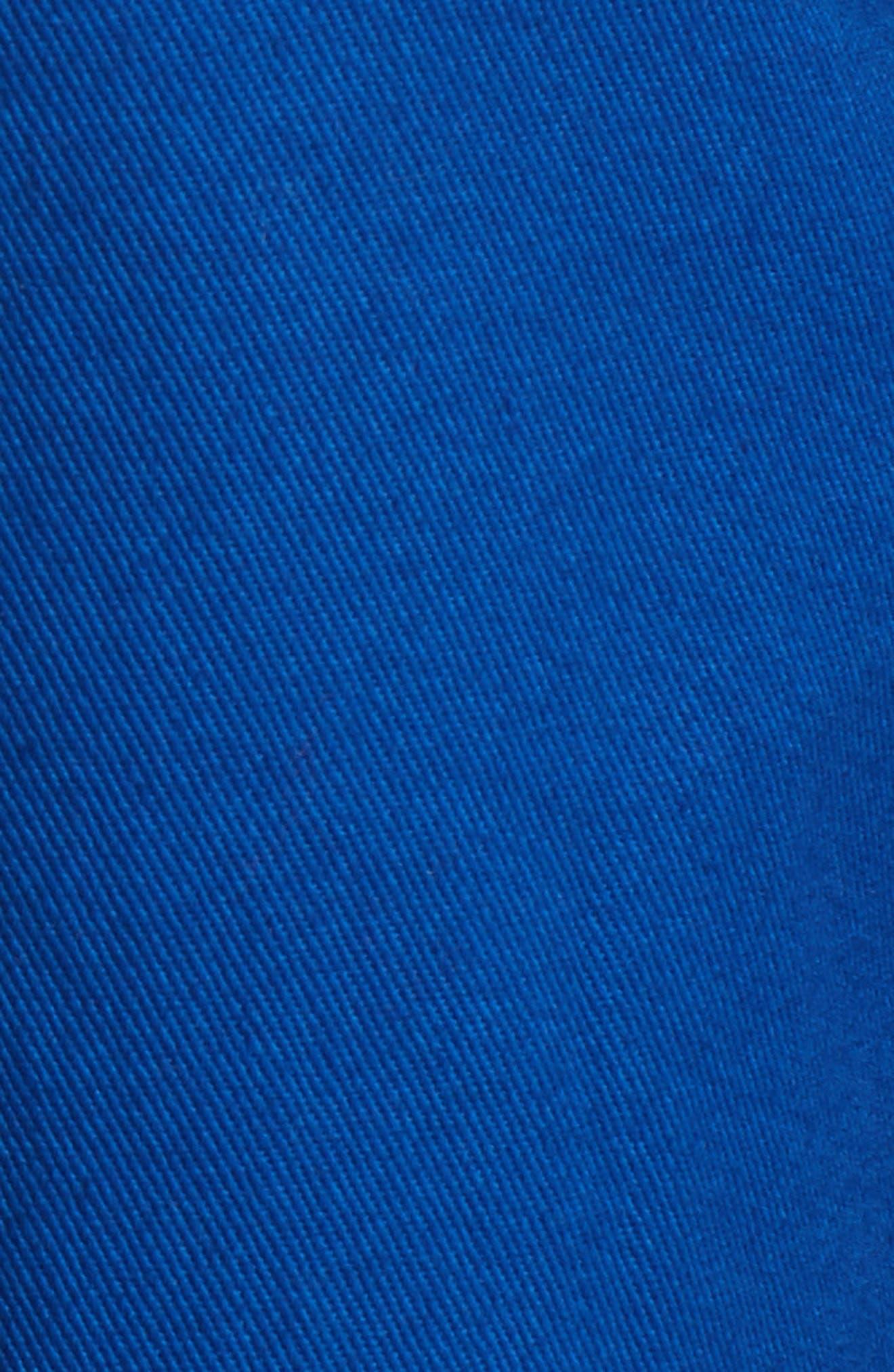 Patch Varsity Jacket,                             Alternate thumbnail 6, color,                             Railroad Blue