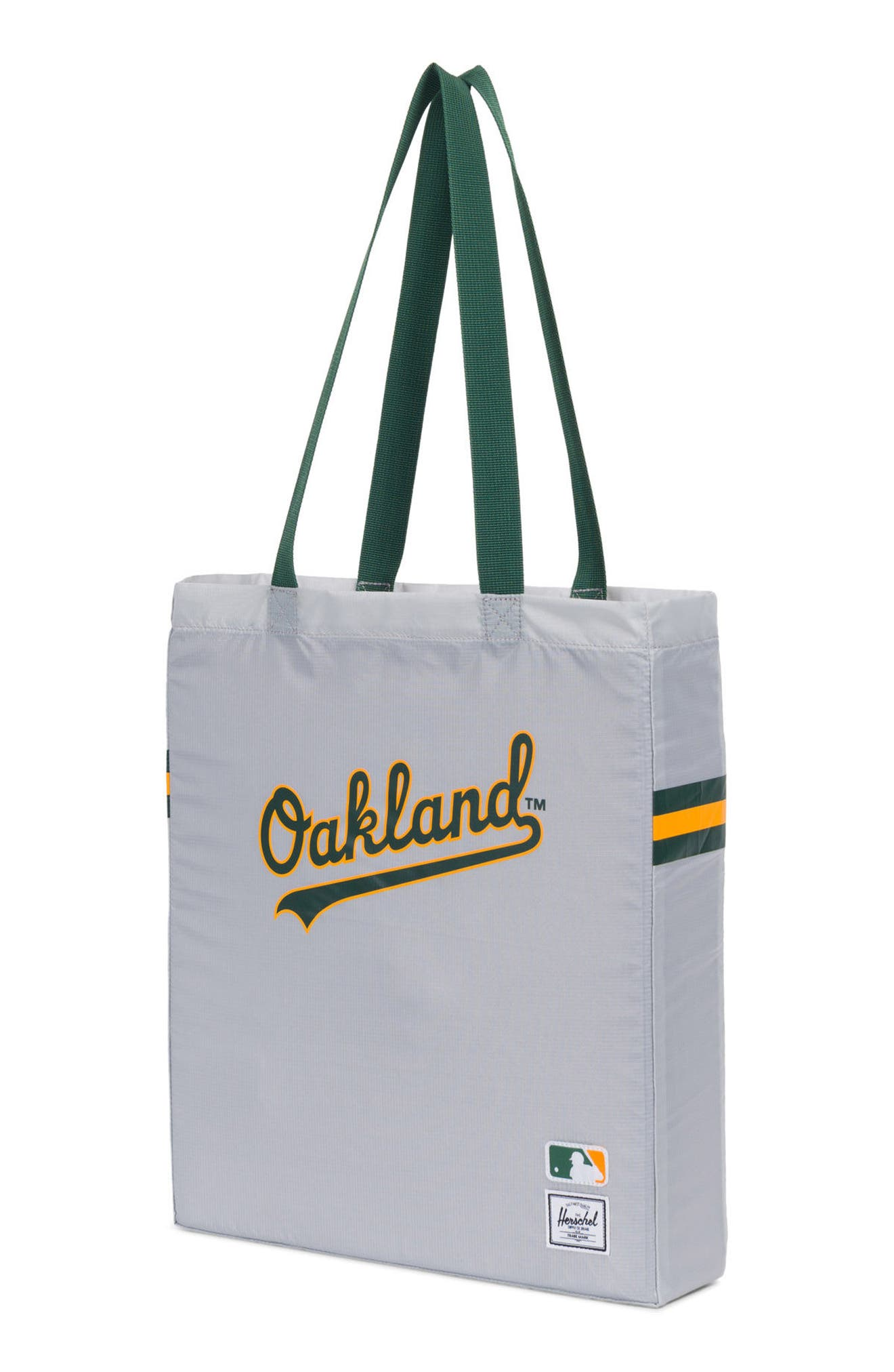 Packable - MLB American League Tote Bag,                             Alternate thumbnail 3, color,                             Oakland A