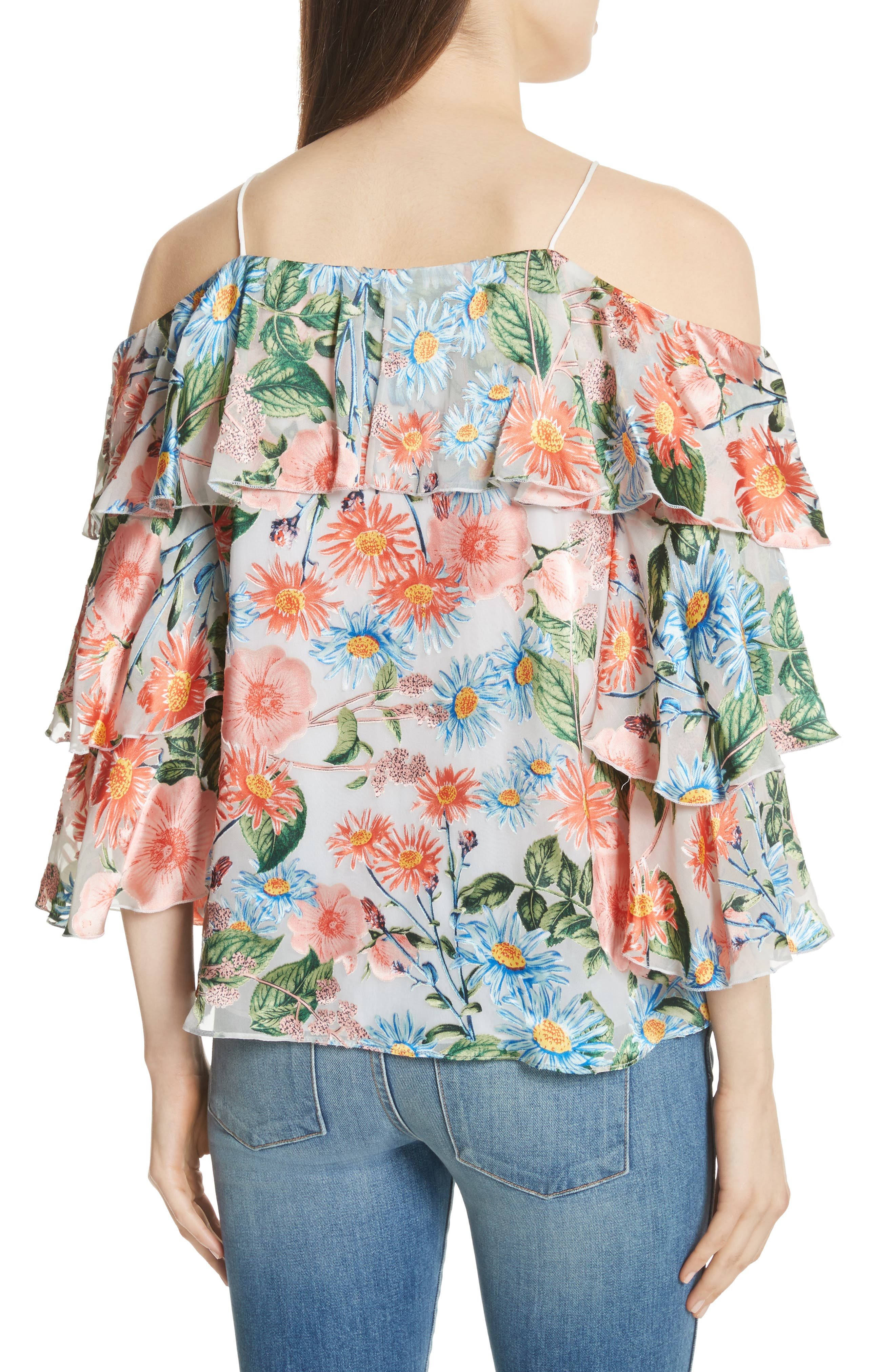 Marylee Floral Off the Shoulder Blouse,                             Alternate thumbnail 2, color,                             Floral Fields