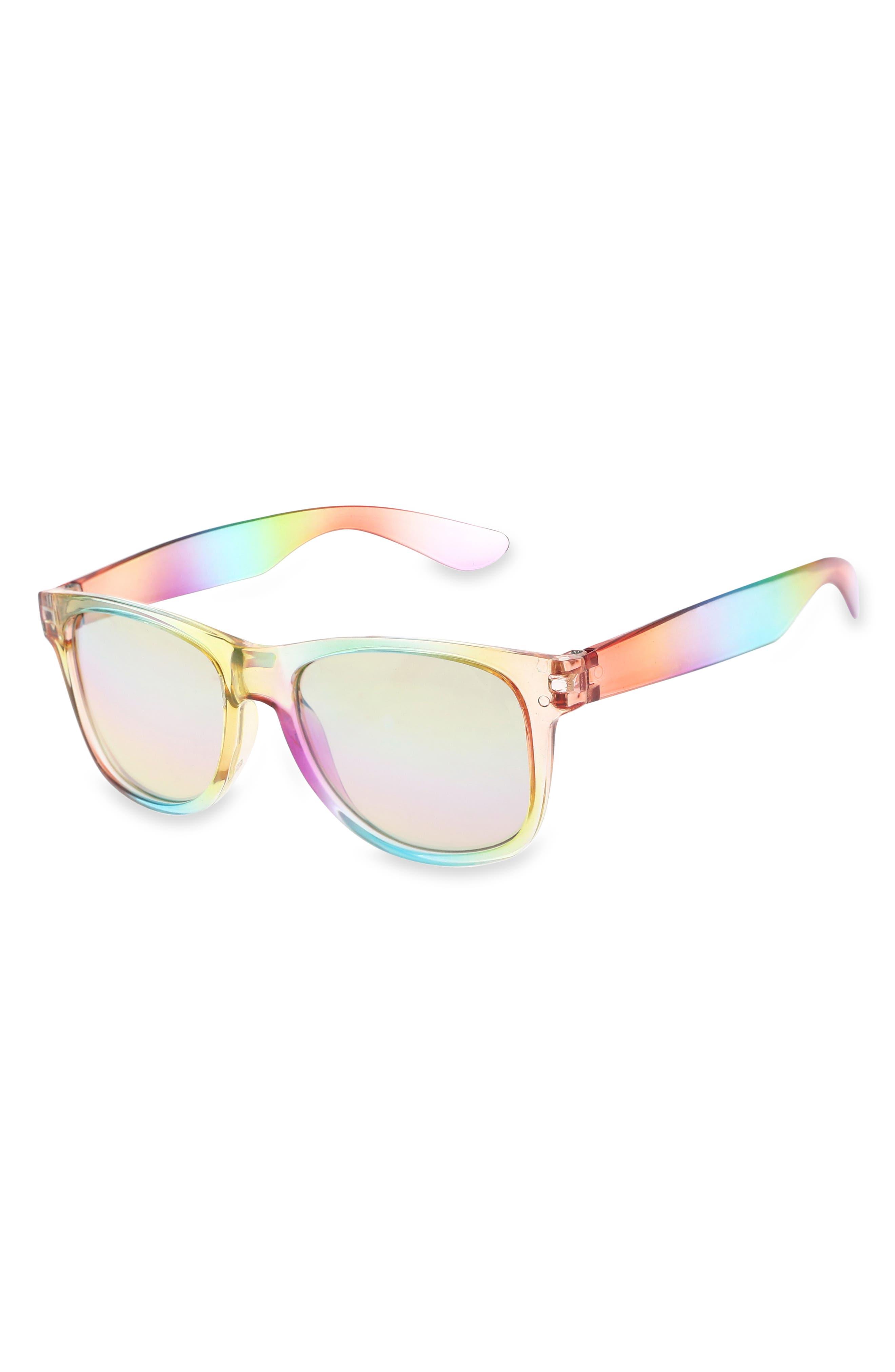 Alternate Image 2  - Capelli New York 60mm Mirrored Sunglasses (Girls)