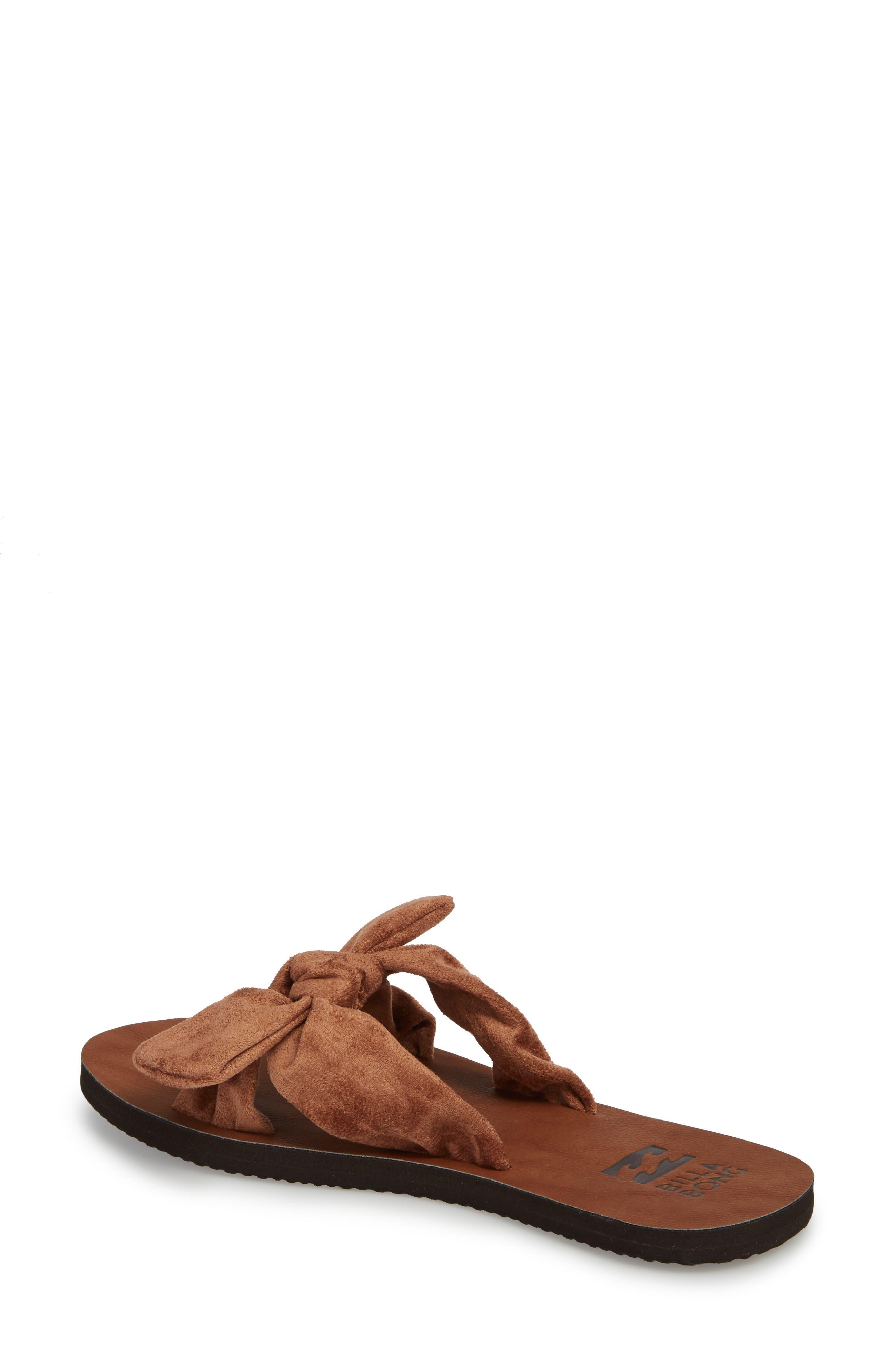 Tied-Up Slide Sandal,                             Alternate thumbnail 2, color,                             Desert Brown