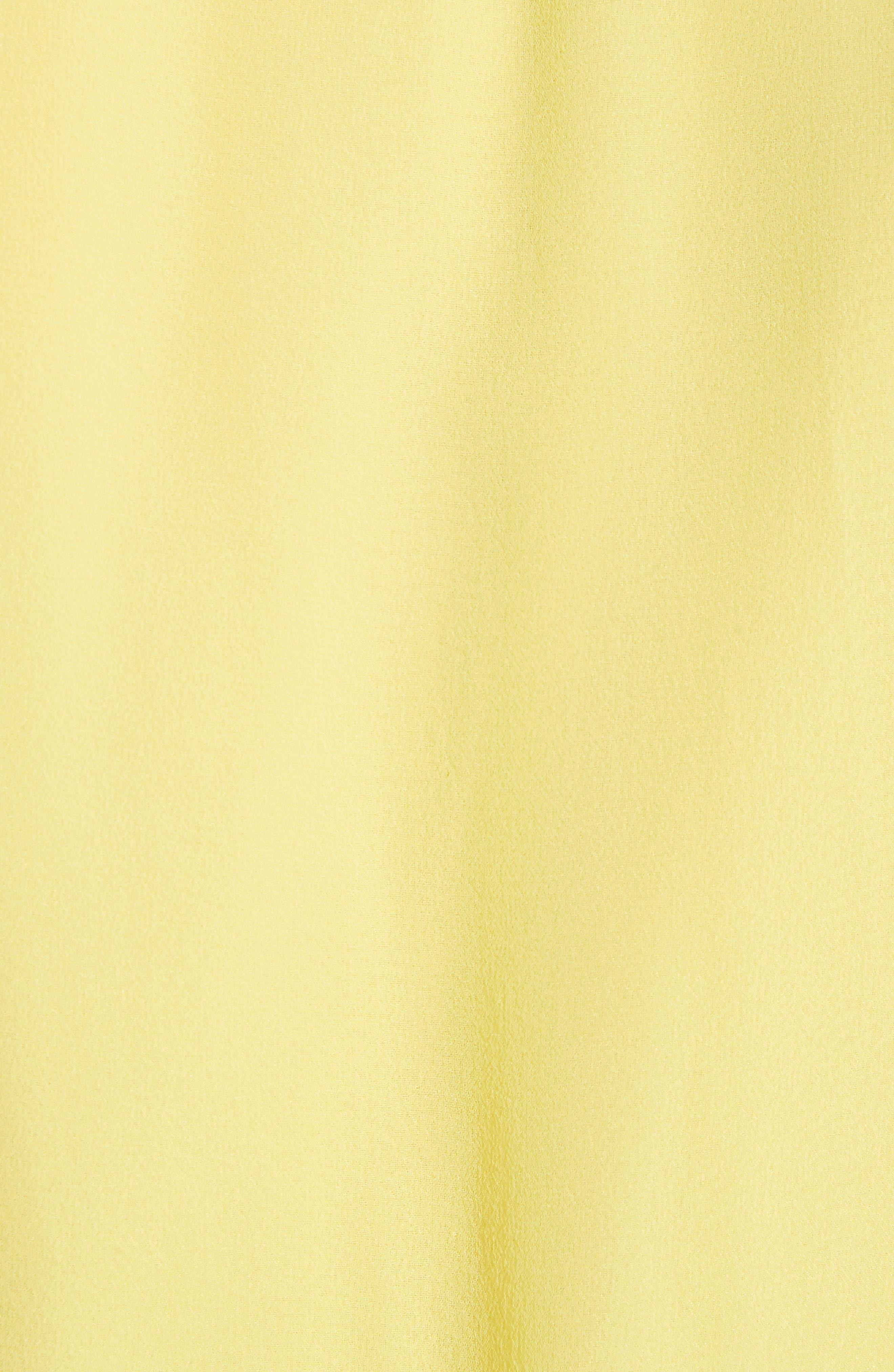 Alternate Image 5  - Alice + Olivia Trista Faux Wrap Silk Blouson Top