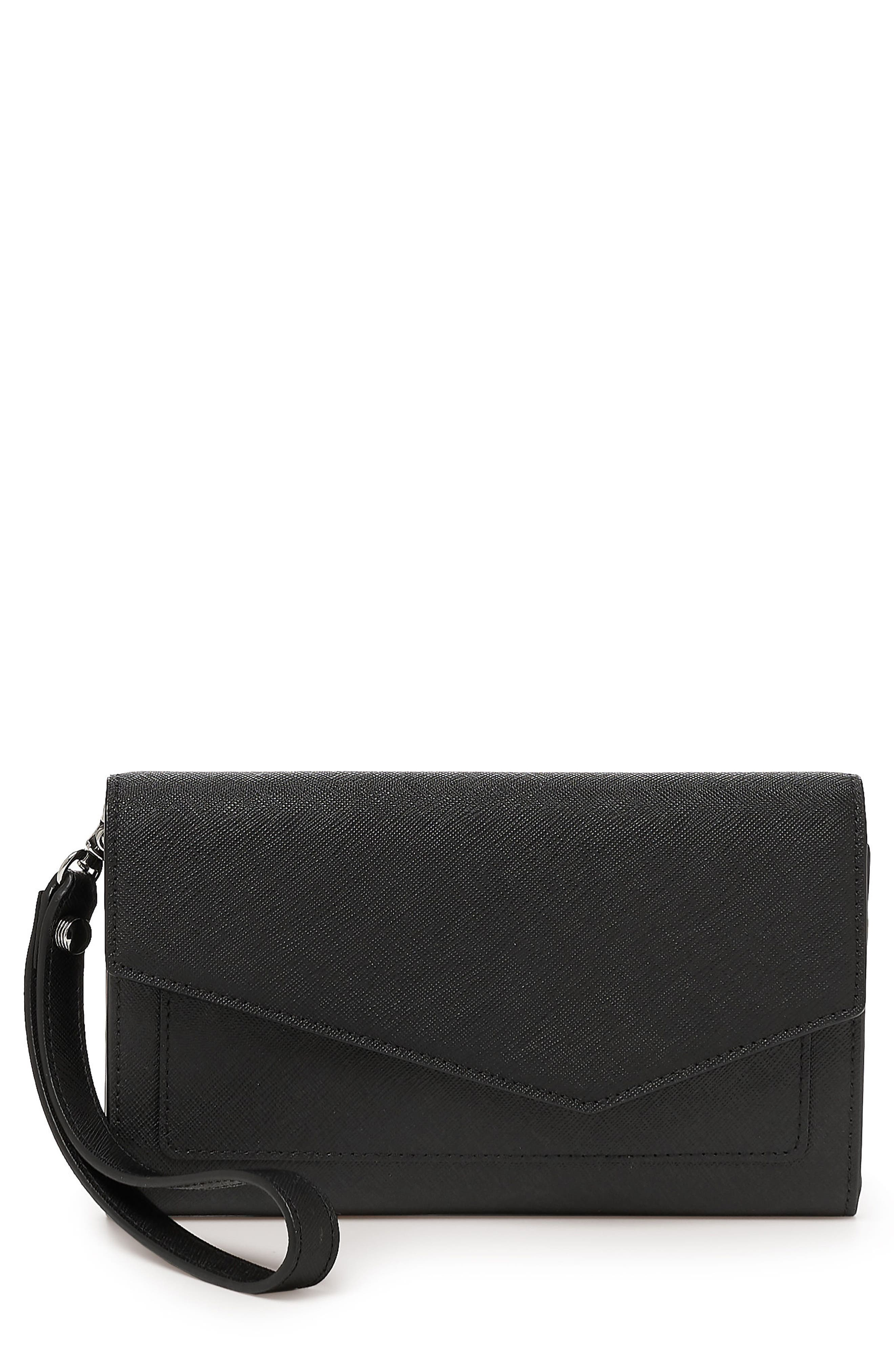 Cobble Hill Calfskin Leather Wallet,                         Main,                         color, Black