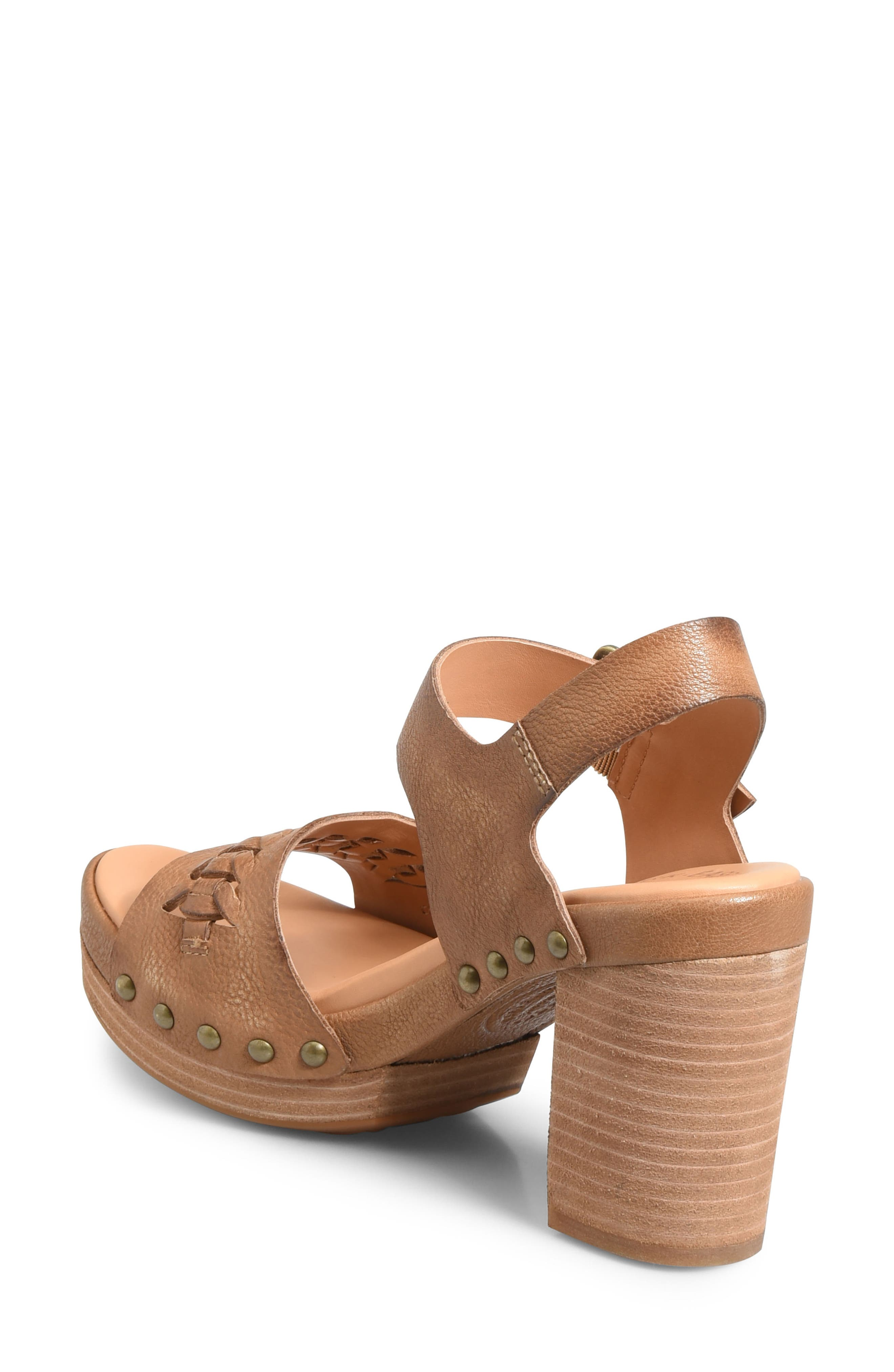 Pasilla Platform Sandal,                             Alternate thumbnail 2, color,                             Light Brown Leather