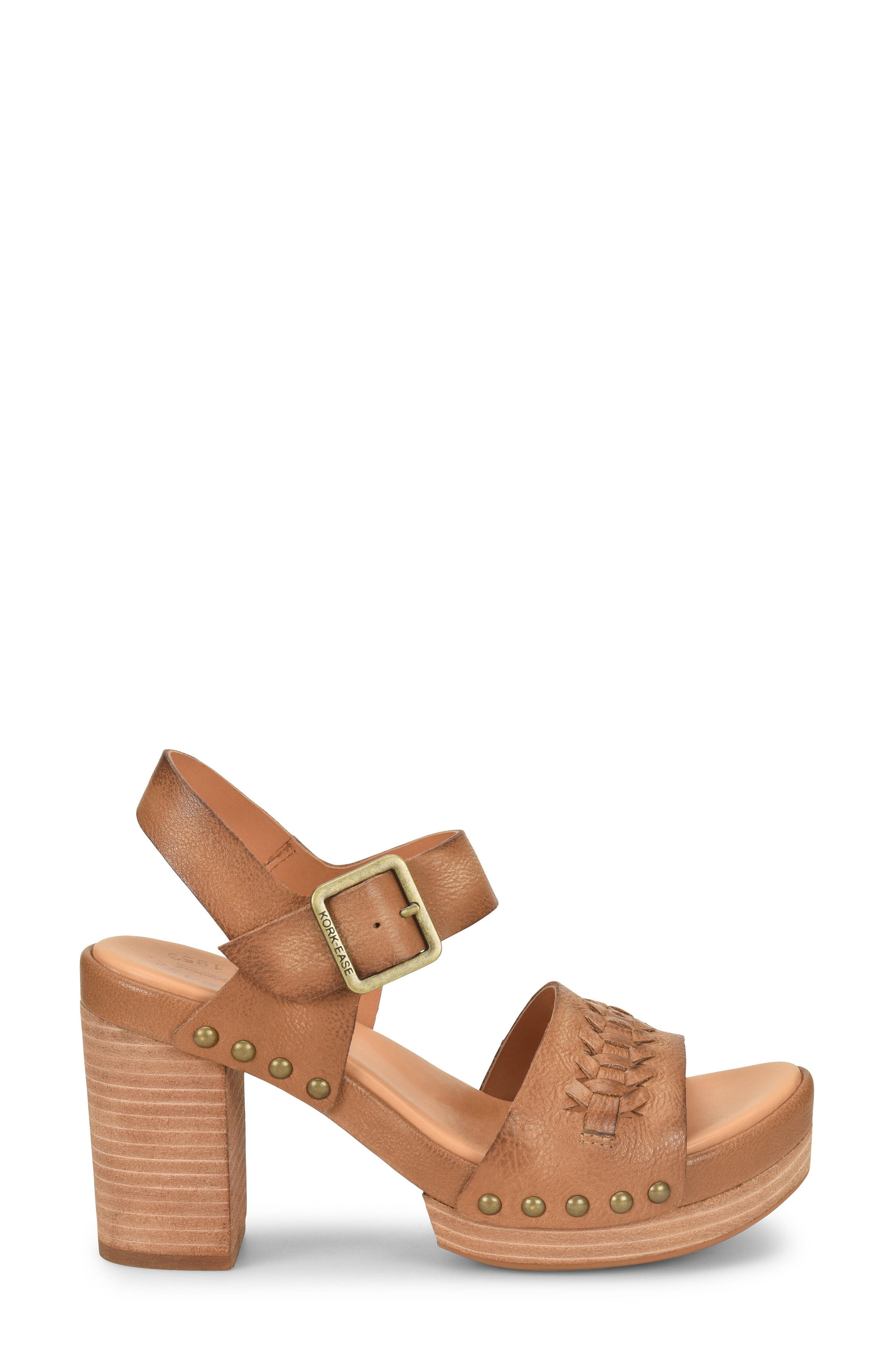 Pasilla Platform Sandal,                             Alternate thumbnail 3, color,                             Light Brown Leather