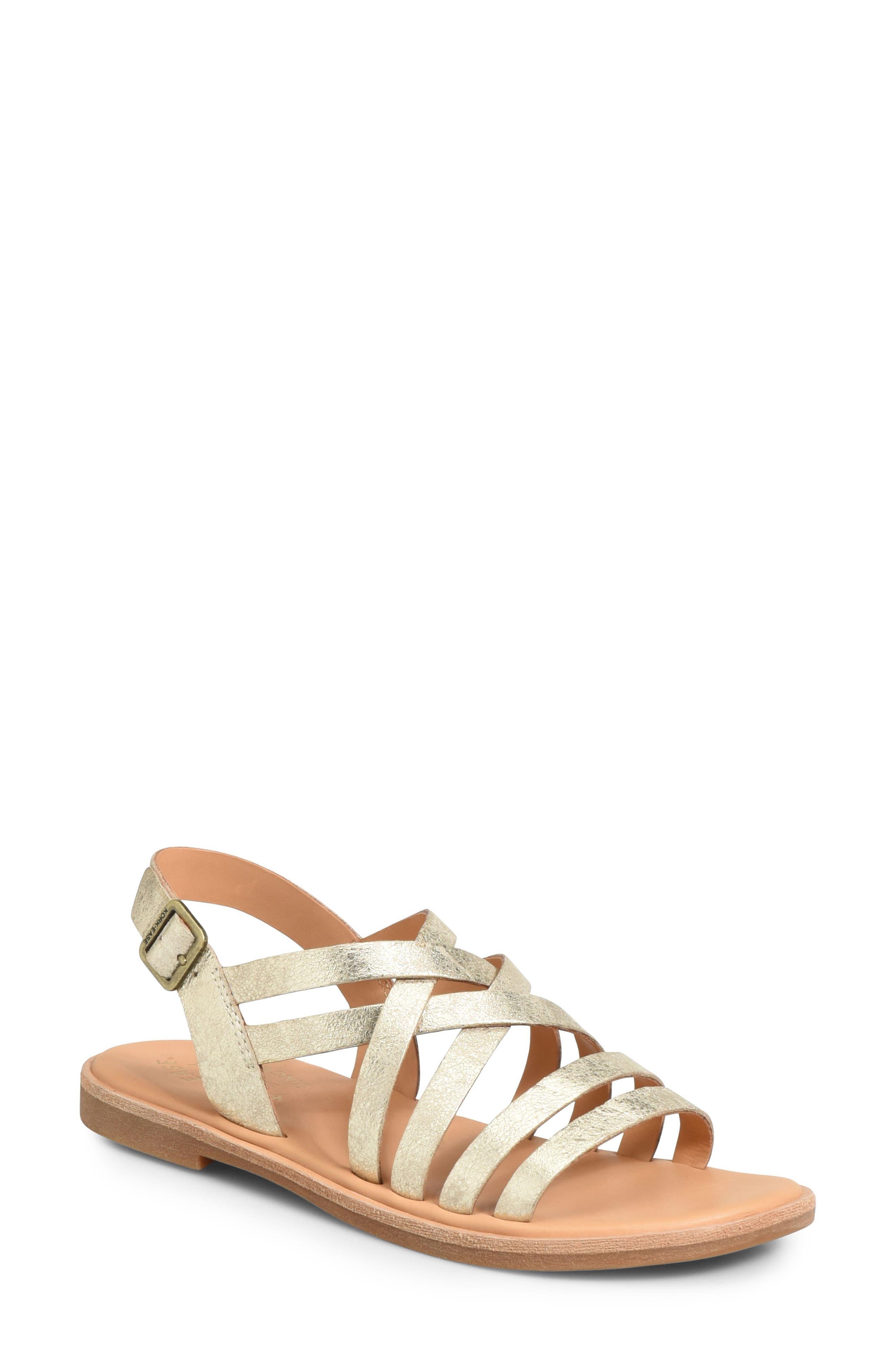 Nicobar Sandal,                             Main thumbnail 1, color,                             Gold Metallic Leather