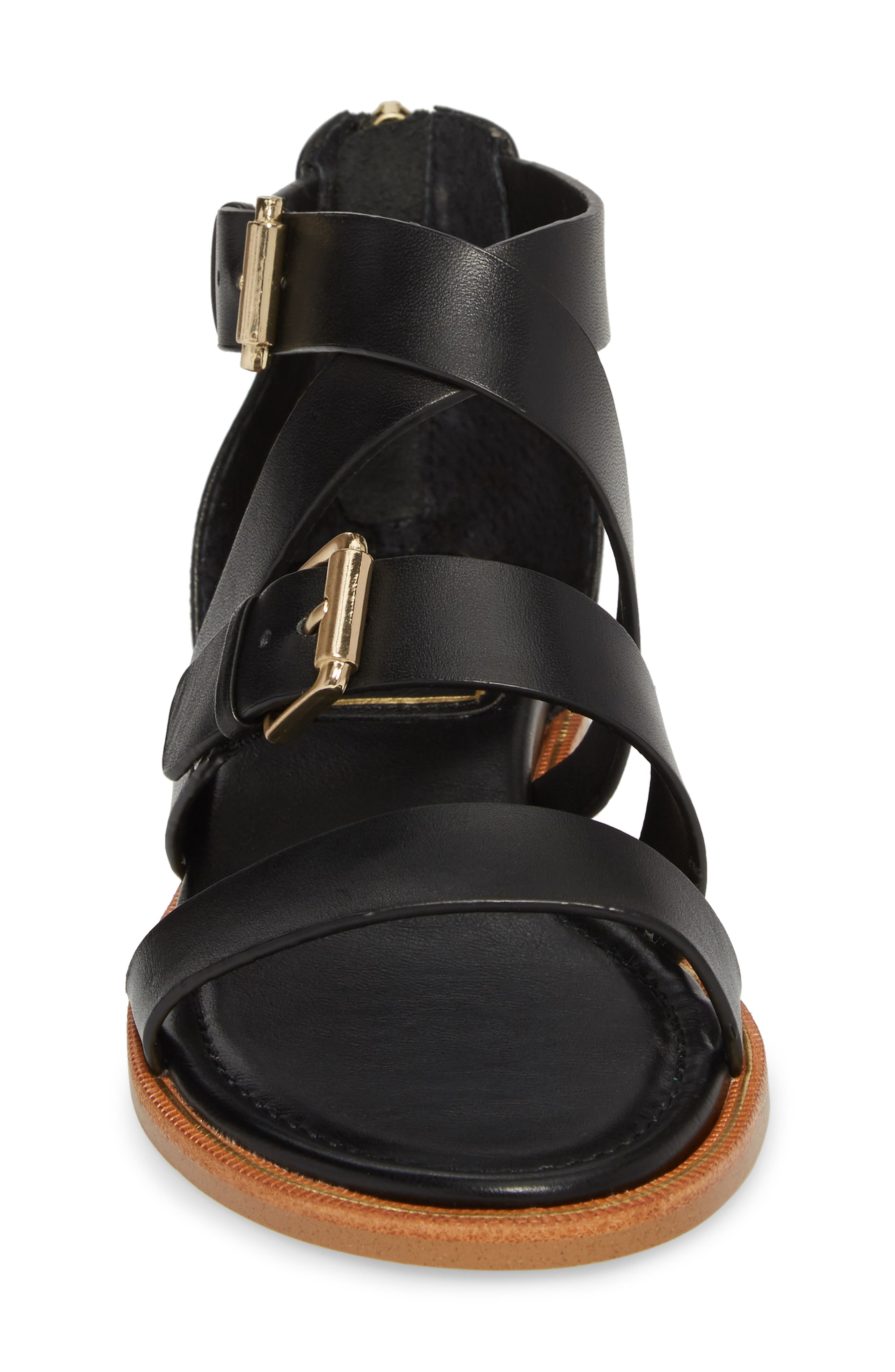 Isola Sharni Sandal,                             Alternate thumbnail 4, color,                             Black Leather
