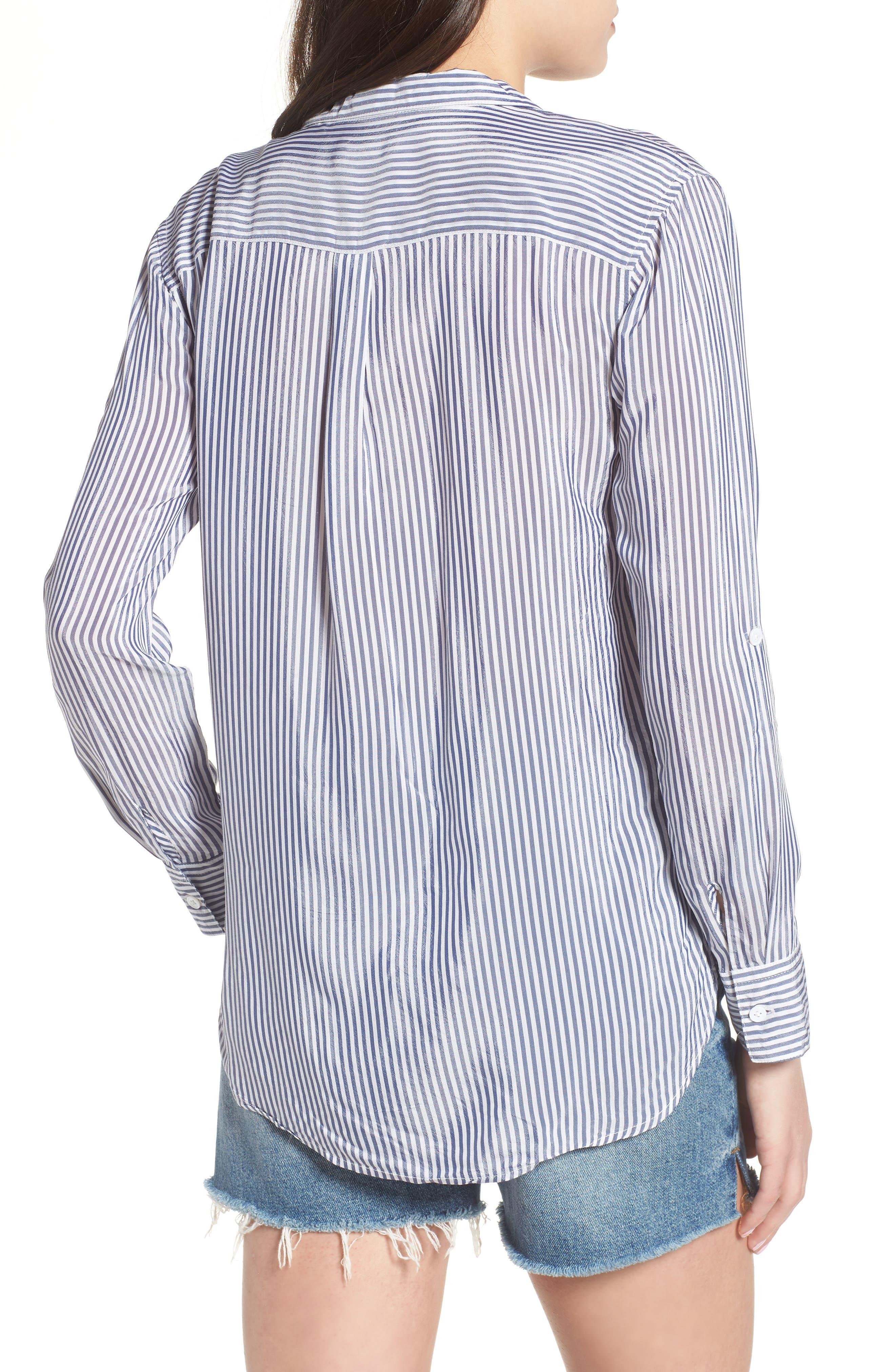 Zinc Stripe Shirt,                             Alternate thumbnail 2, color,                             Blue Stripe