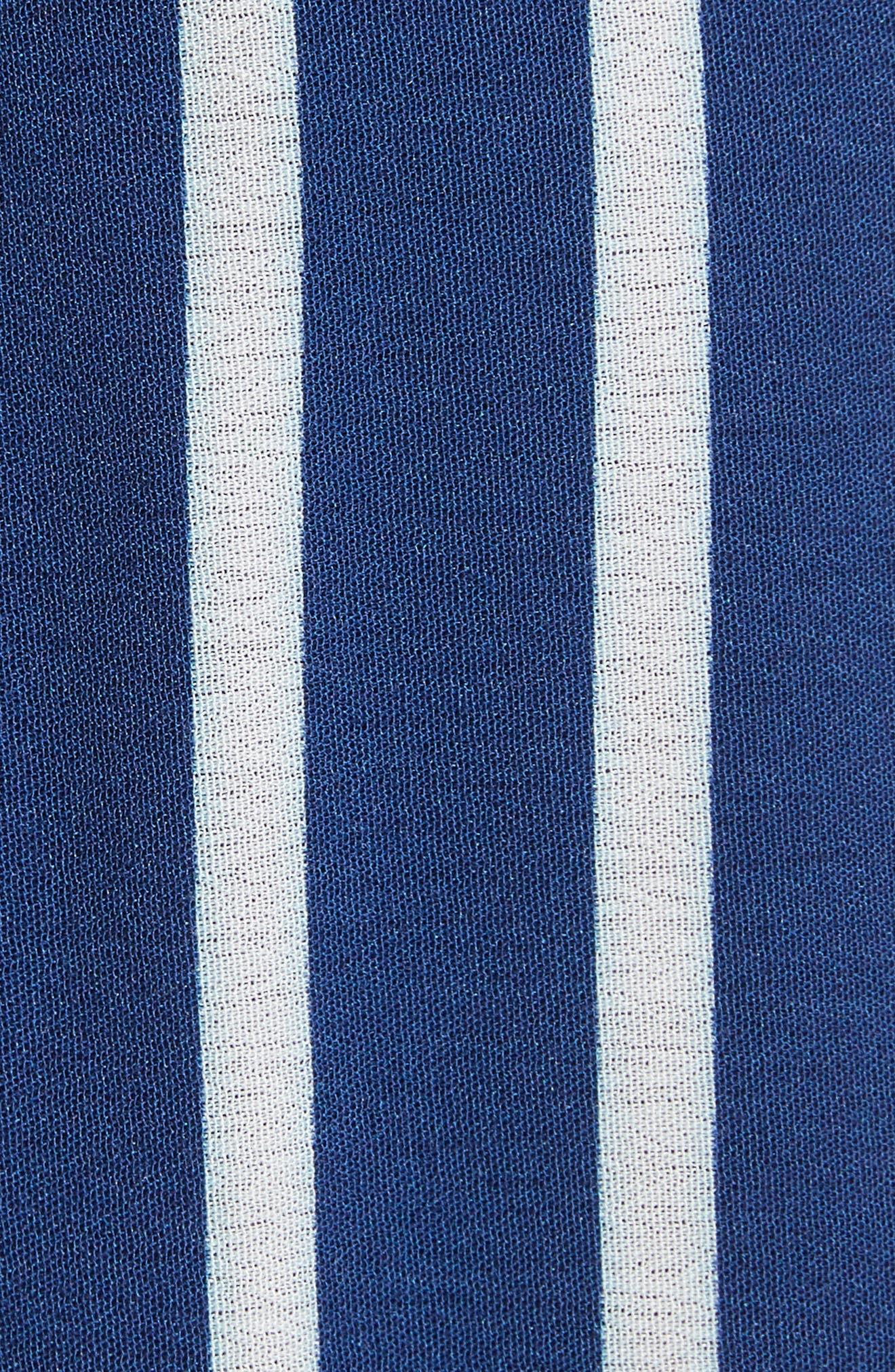 Grazi Off the Shoulder Maxi Dress,                             Alternate thumbnail 5, color,                             Oasis Stripe