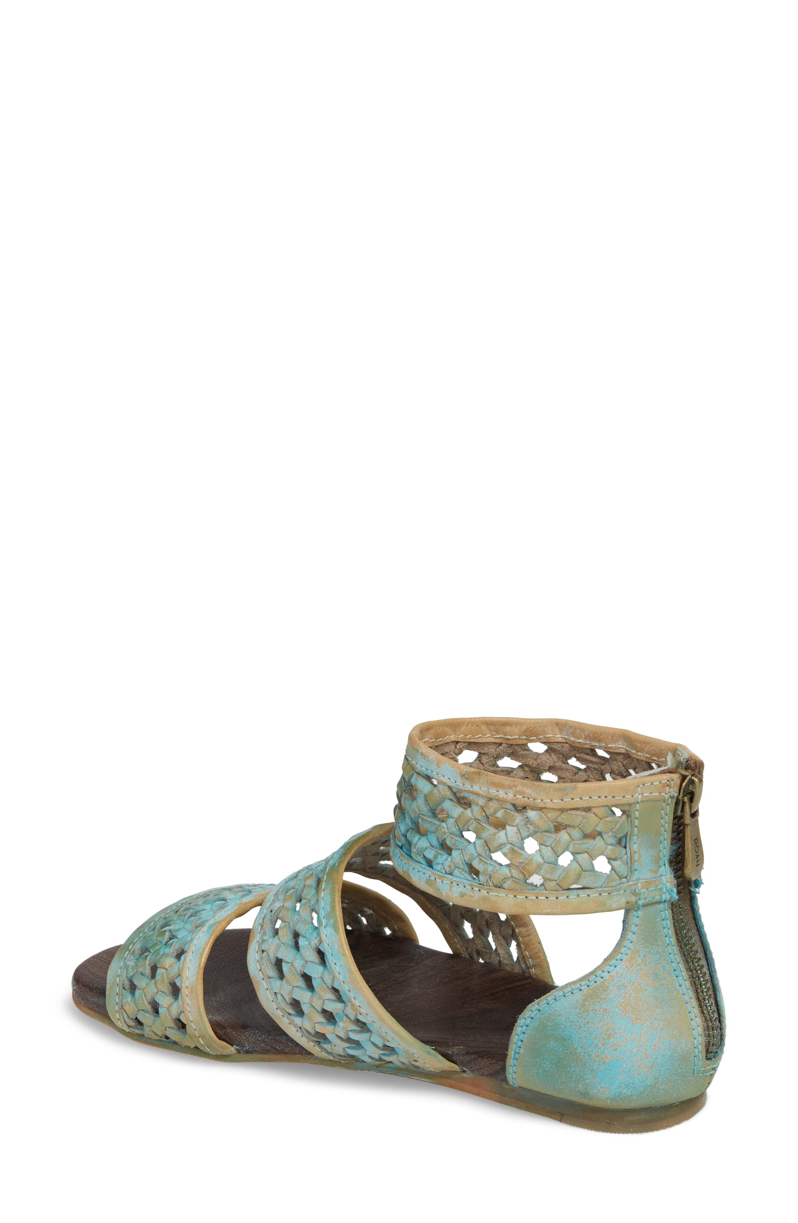 Clio Woven Ankle Cuff Sandal,                             Alternate thumbnail 2, color,                             Blue