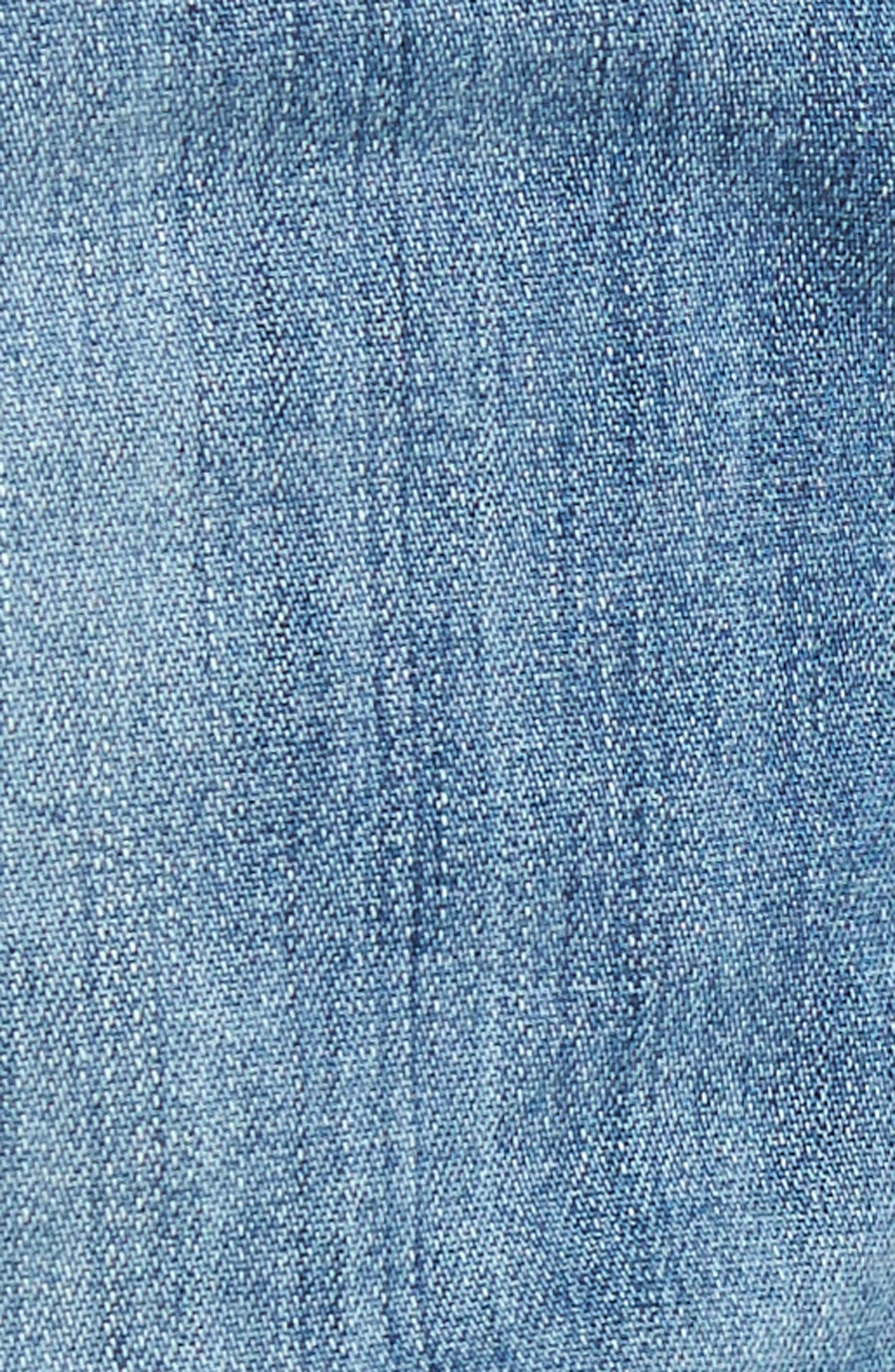 Skyler Denim Shorts,                             Alternate thumbnail 6, color,                             Mercury