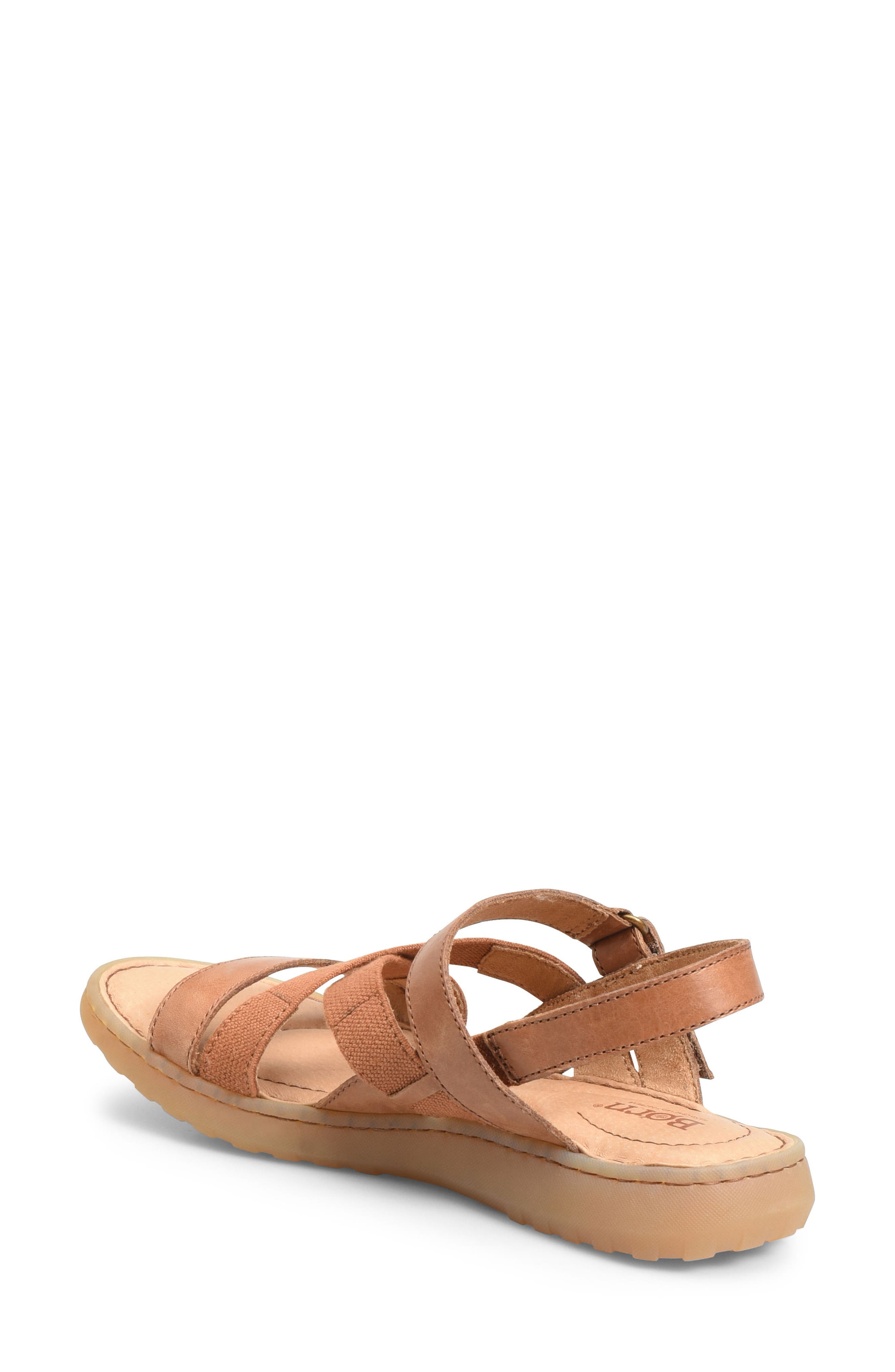 Manta Sandal,                             Alternate thumbnail 2, color,                             Brown Leather