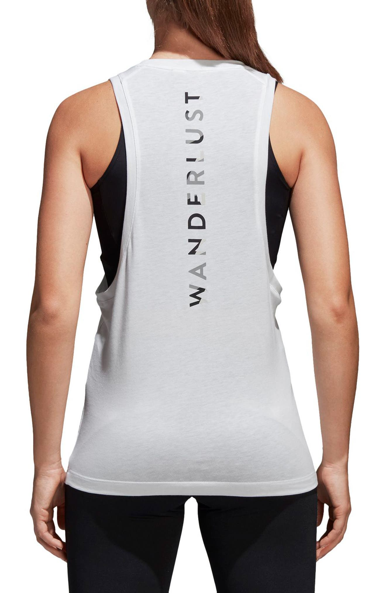 Wanderlust Parley Tank,                             Alternate thumbnail 2, color,                             White