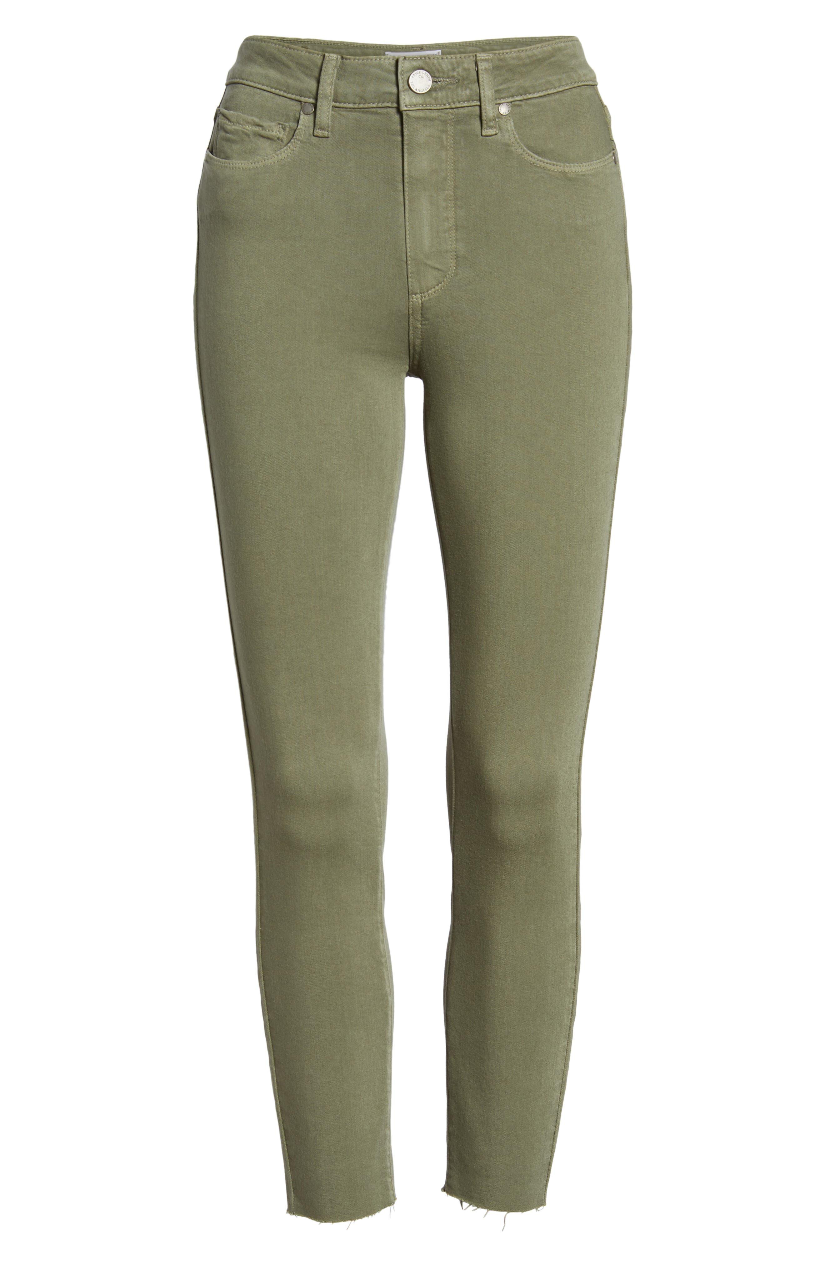 Hoxton High Waist Crop Skinny Jeans,                             Alternate thumbnail 7, color,                             Vintage Green