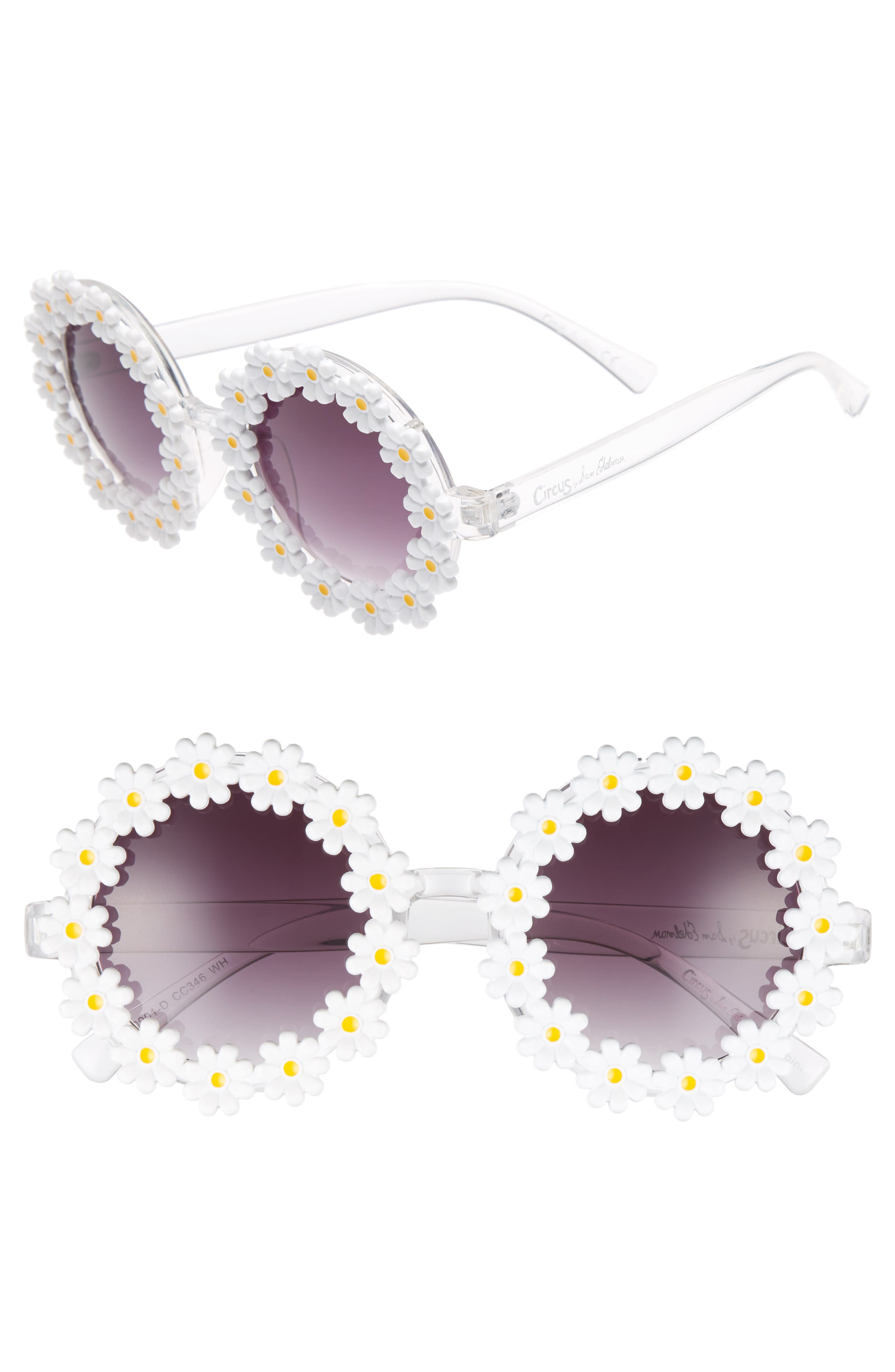45mm Round Sunglasses,                             Main thumbnail 1, color,                             White