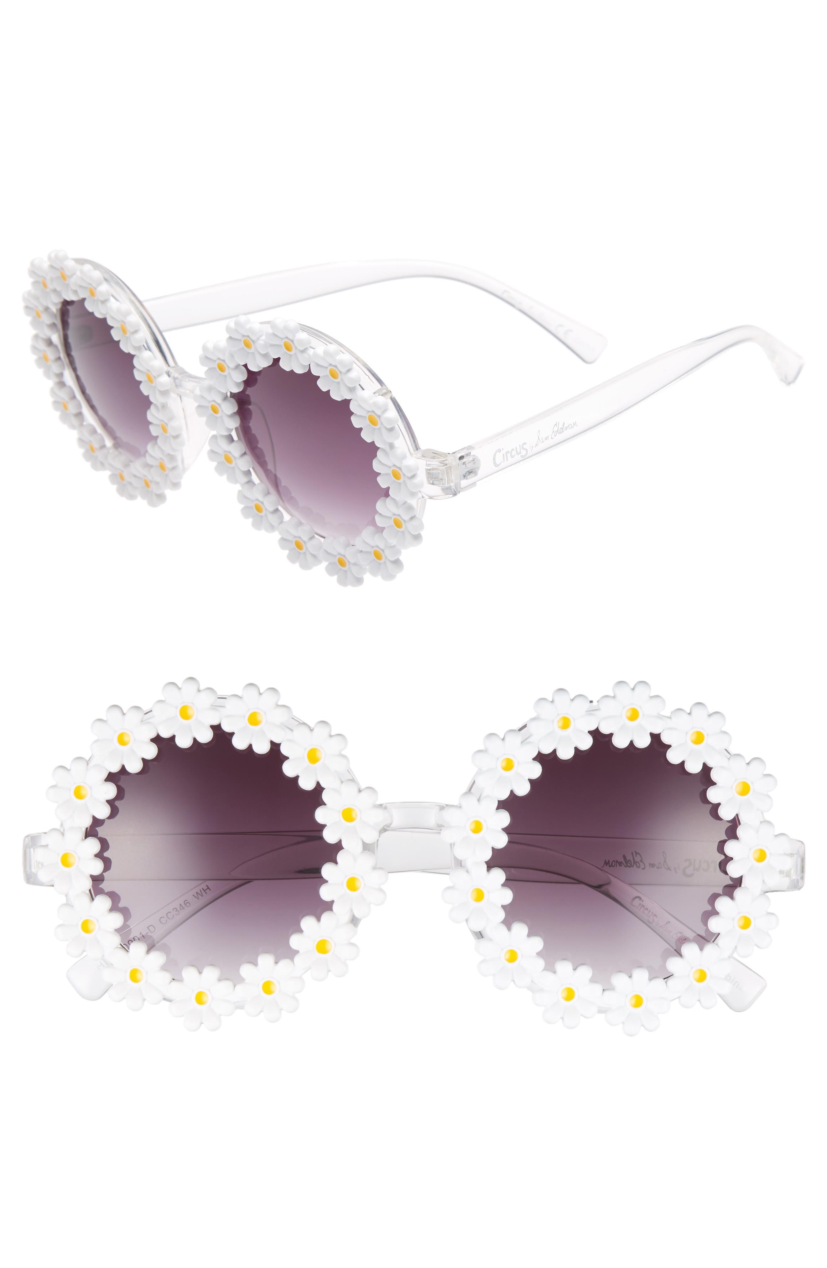 45mm Round Sunglasses,                         Main,                         color, White
