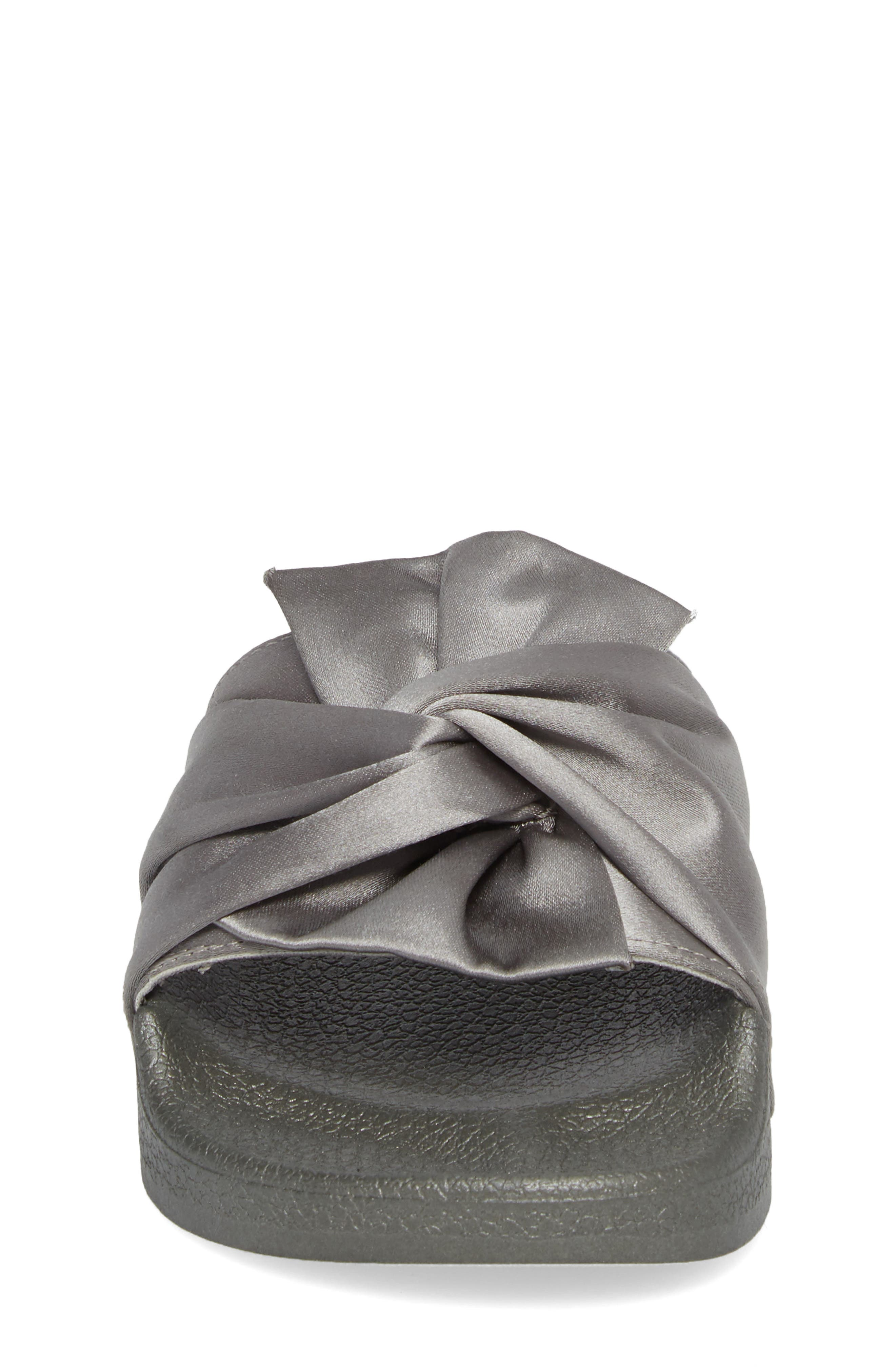 Shower Twist Slide Sandal,                             Alternate thumbnail 4, color,                             Gray