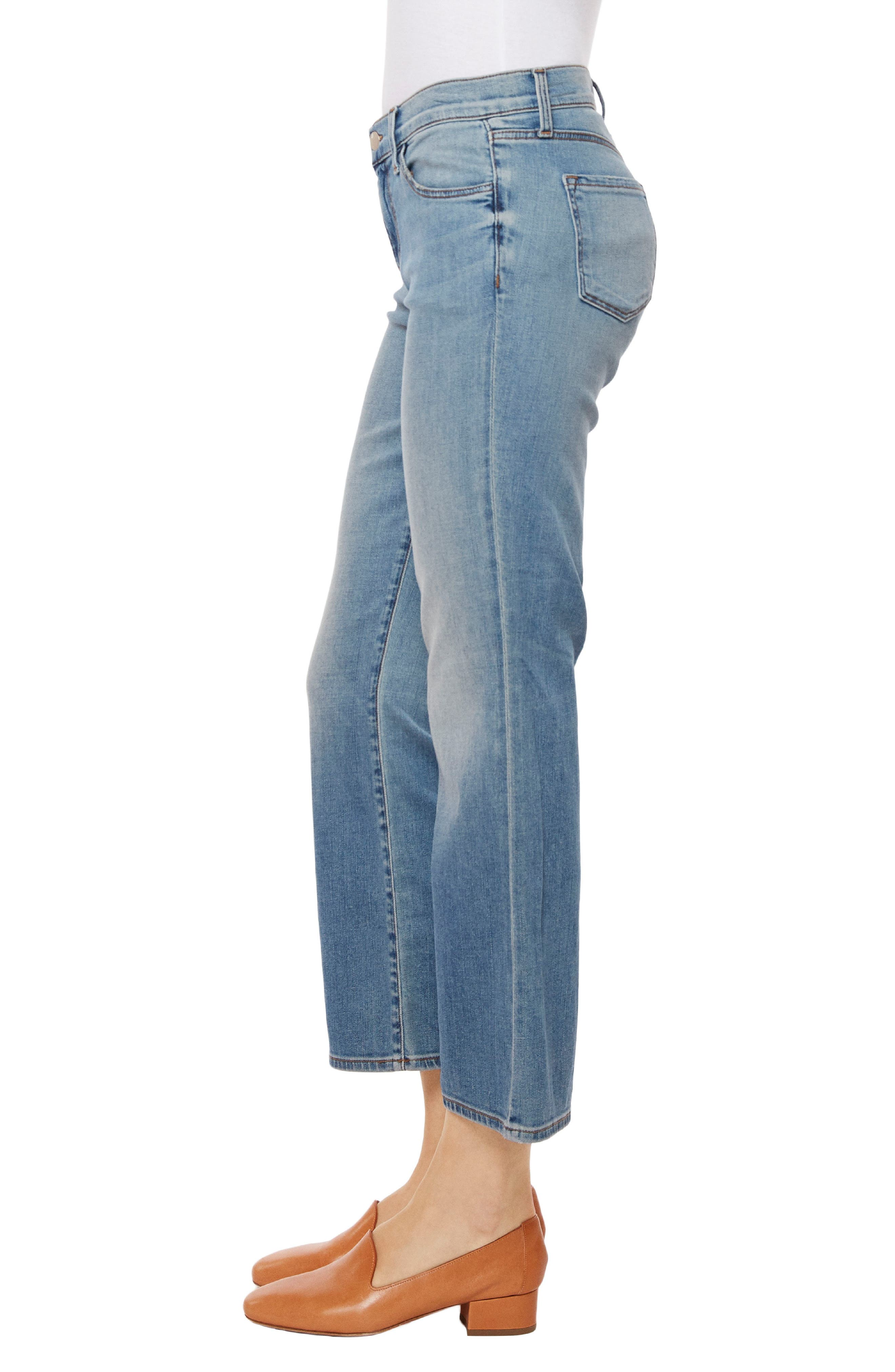Selena Crop Bootcut Jeans,                             Alternate thumbnail 3, color,                             Balearic
