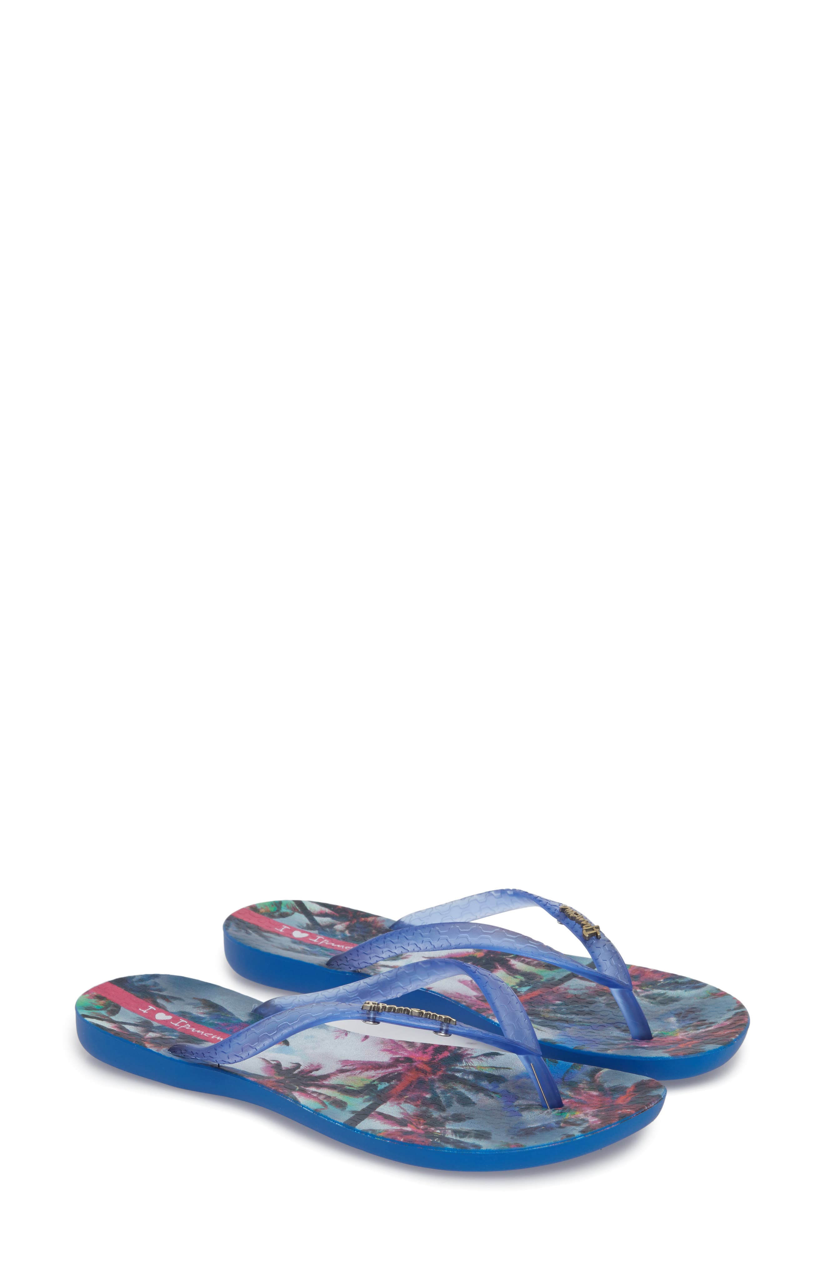 Wave Vista Print Flip-Flop,                             Alternate thumbnail 2, color,                             Blue