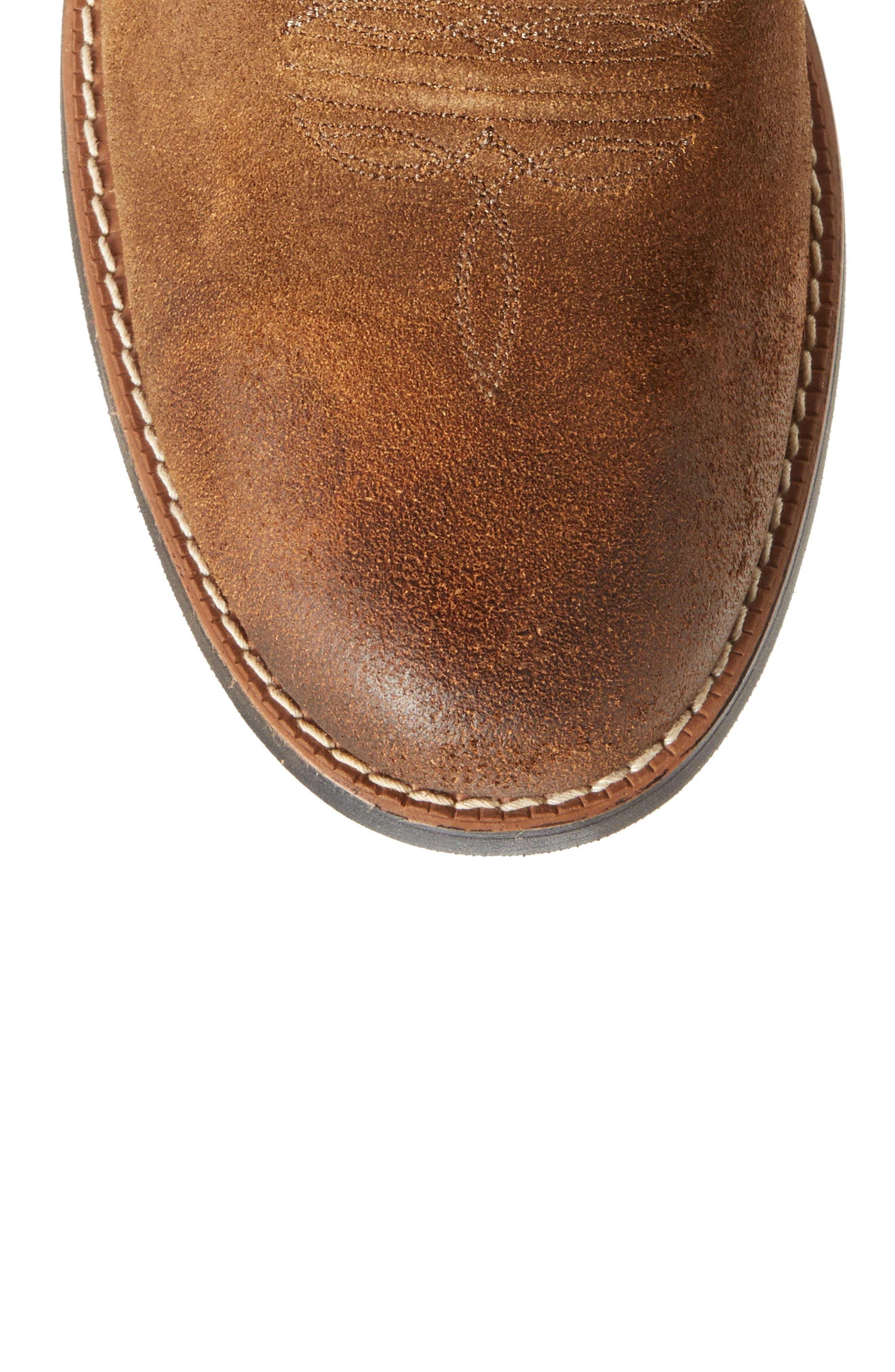 Sport Patriot Cowboy Boot,                             Alternate thumbnail 5, color,                             Antique Mocha/ Sand Leather