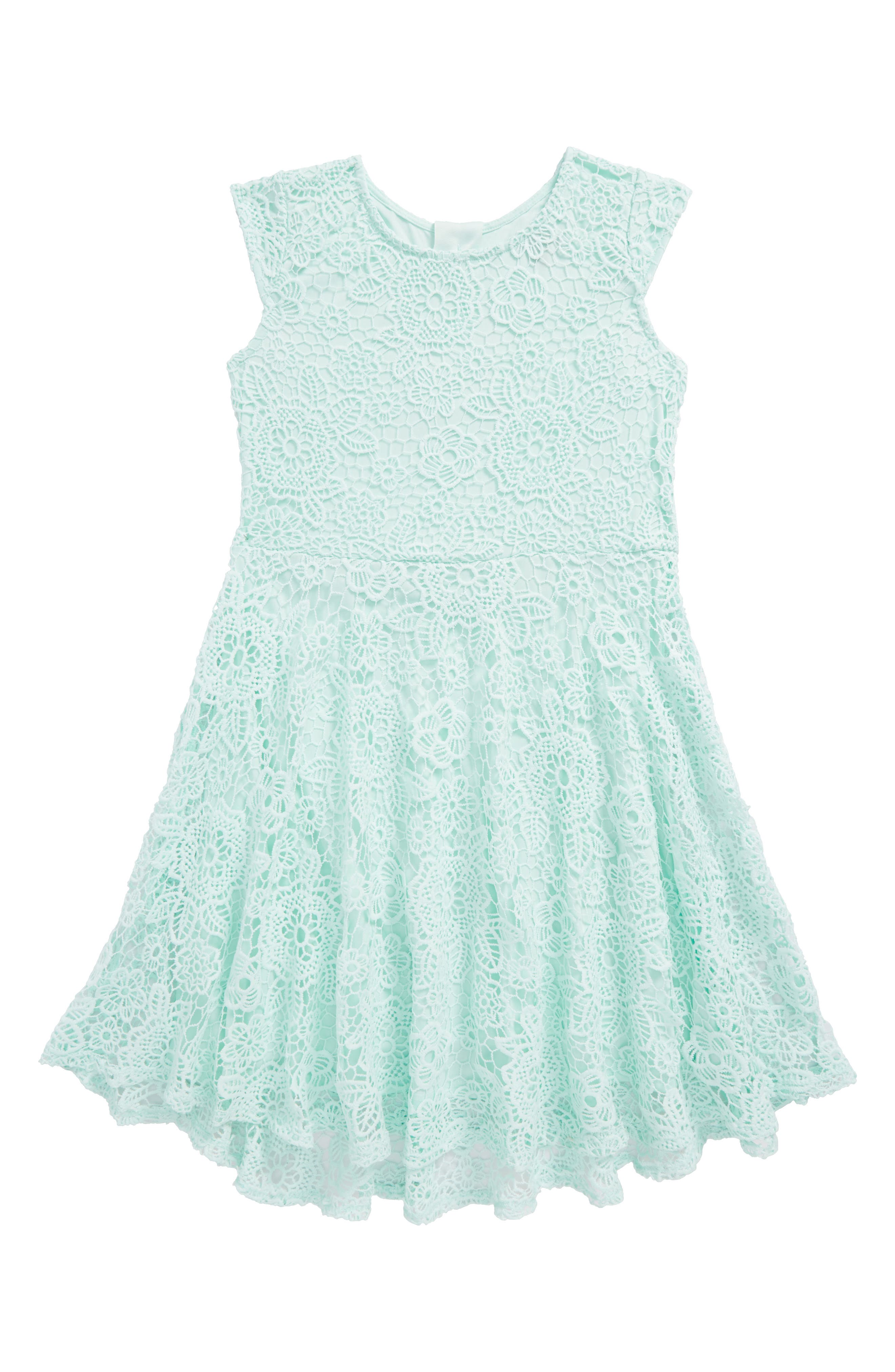 Ava & Yelly Crochet Skater Dress (Big Girls)
