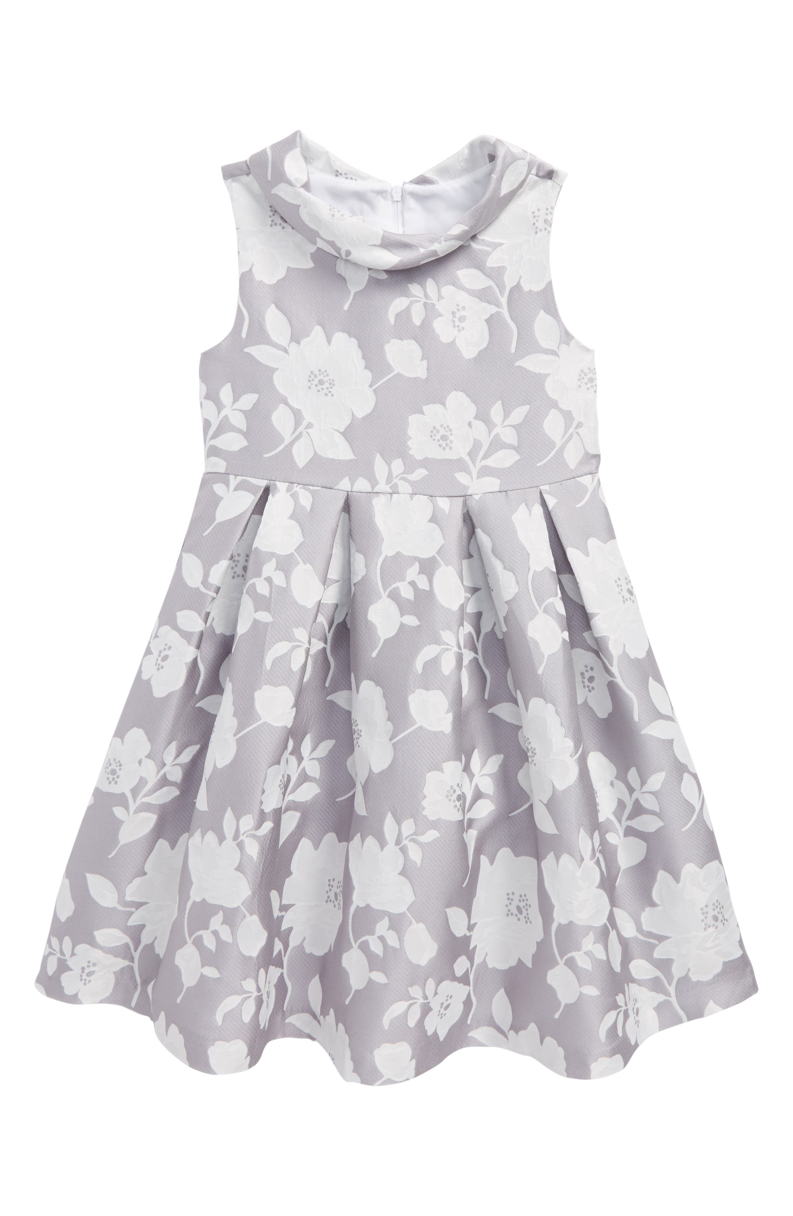 Iris & Ivy Floral Jacquard Dress (Toddler Girls & Little Girls)