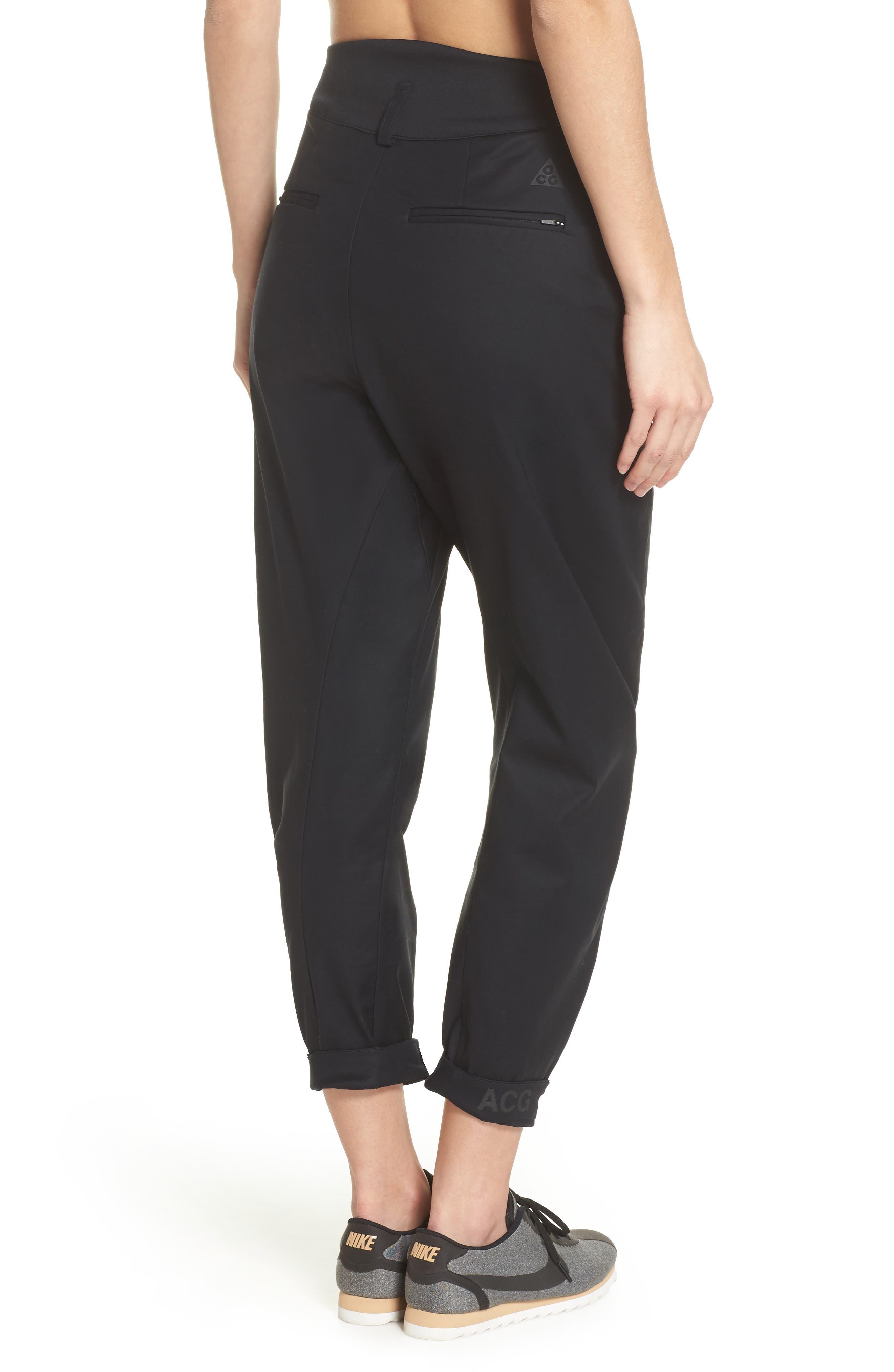 NikeLab ACG Tech Woven Pants,                             Alternate thumbnail 2, color,                             Black