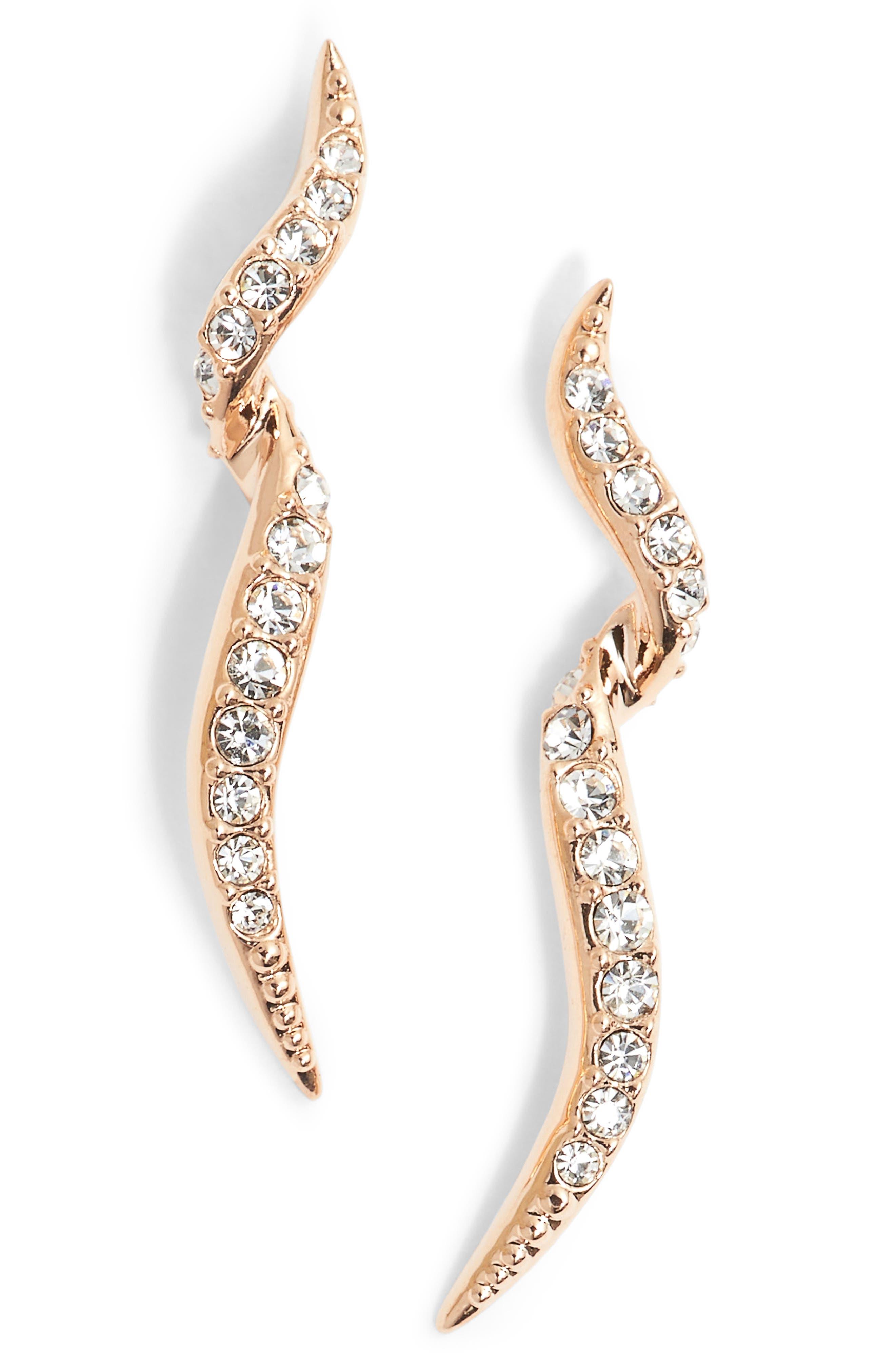 Citron Stud Earrings,                         Main,                         color, Rose Gold