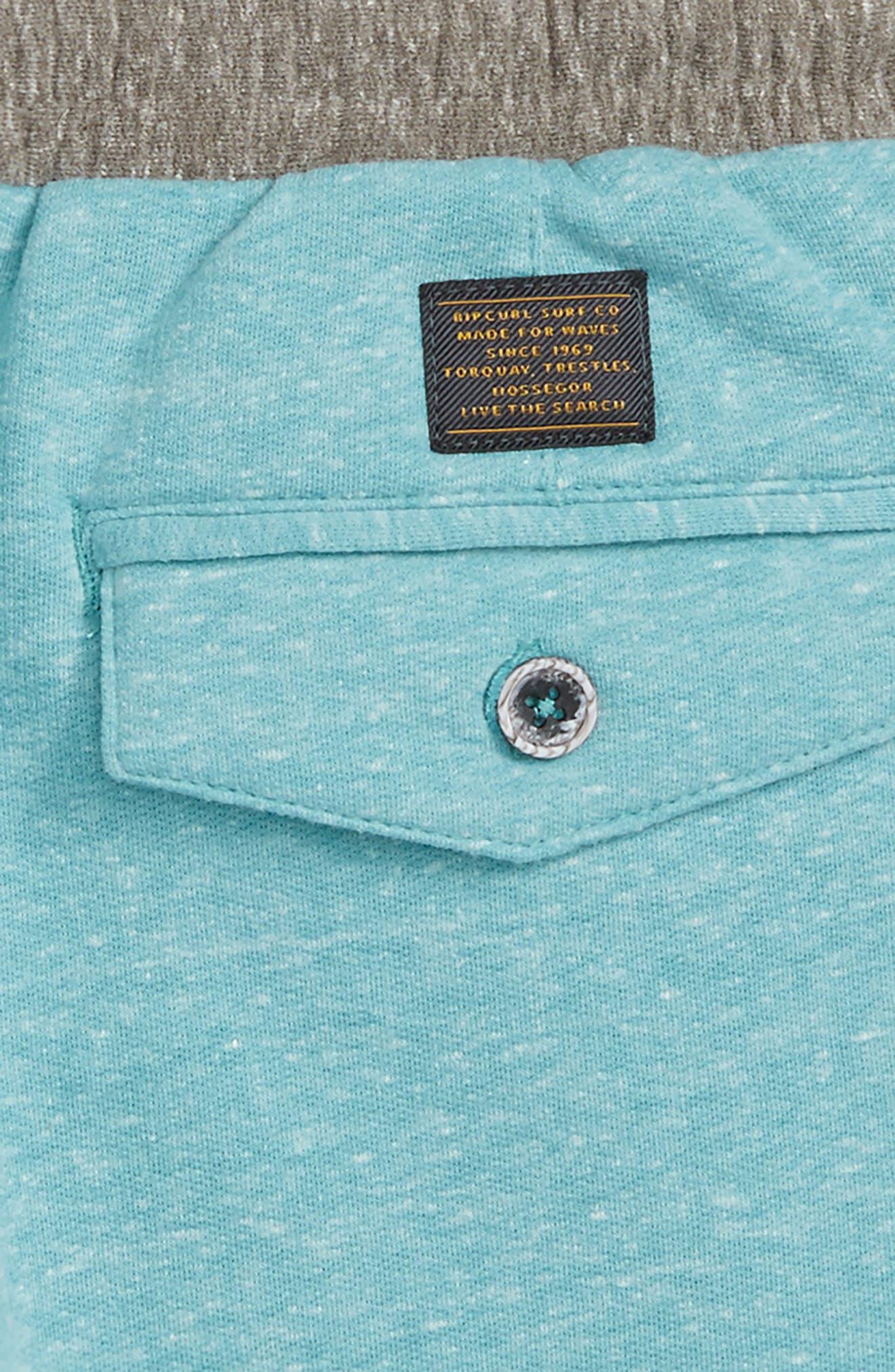 Seaside Fleece Shorts,                             Alternate thumbnail 3, color,                             Teal