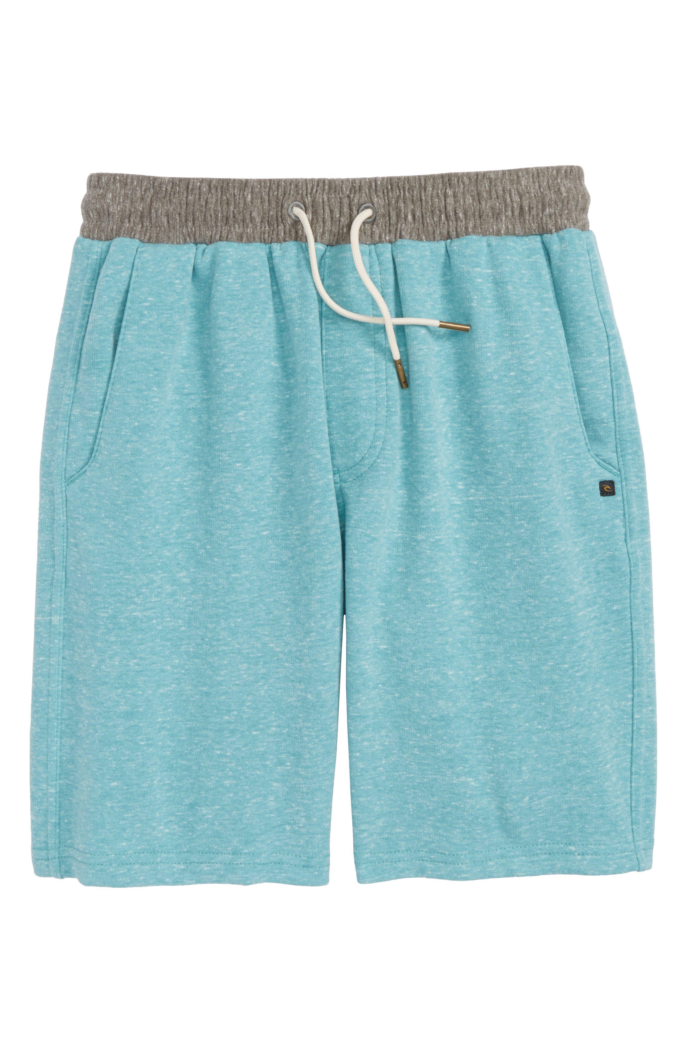 Seaside Fleece Shorts,                             Main thumbnail 1, color,                             Teal