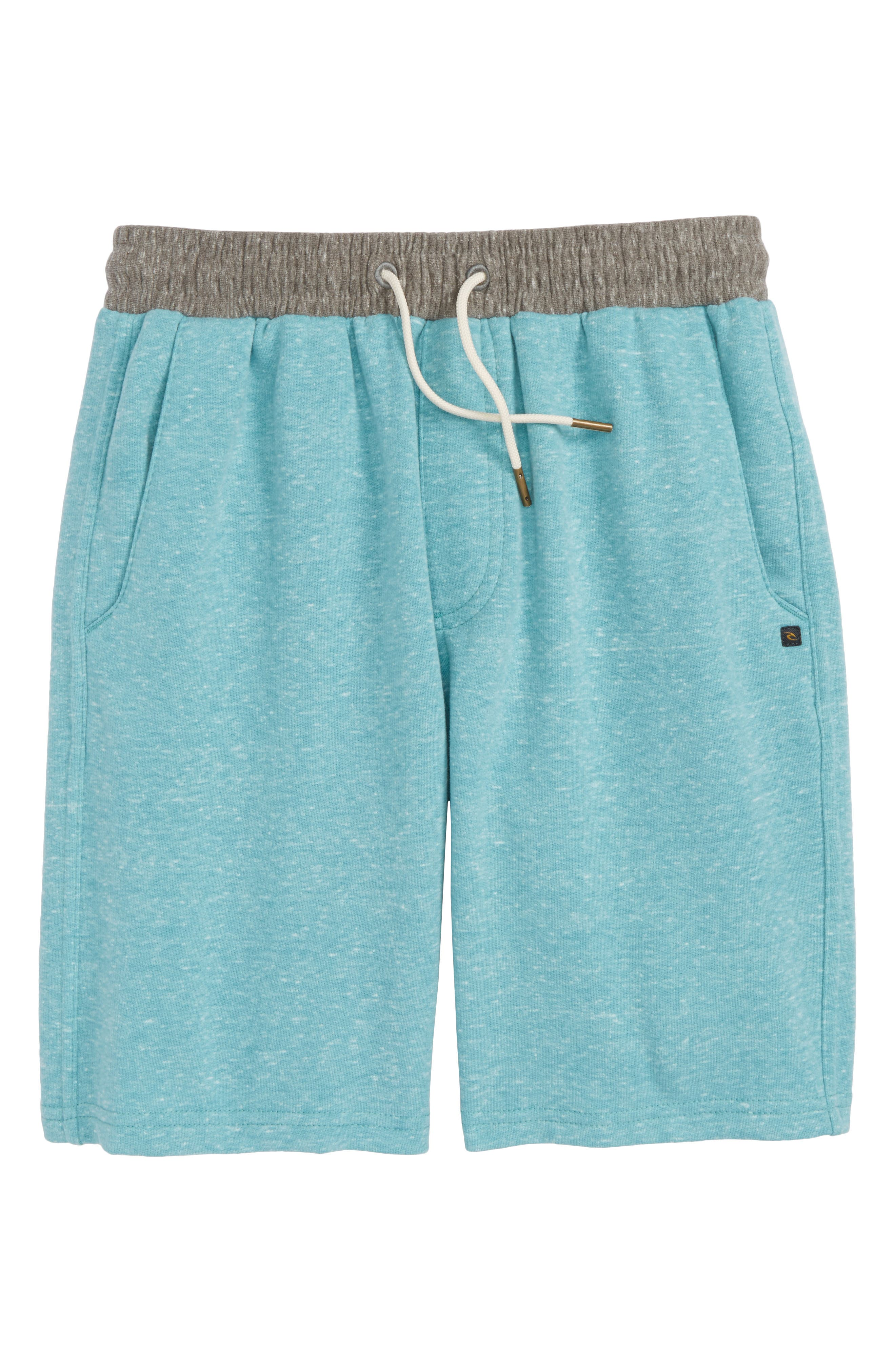 Seaside Fleece Shorts,                         Main,                         color, Teal